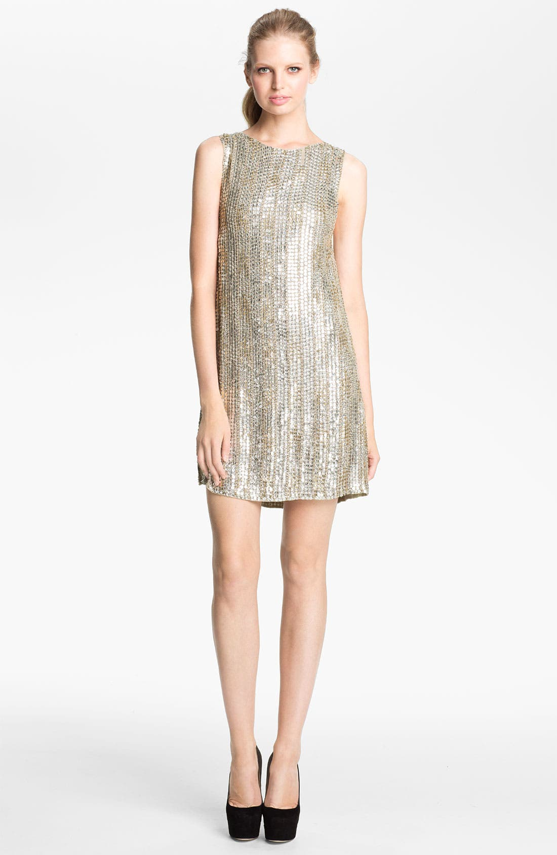 Main Image - Alice + Olivia 'Leighton' Embellished A-Line Dress