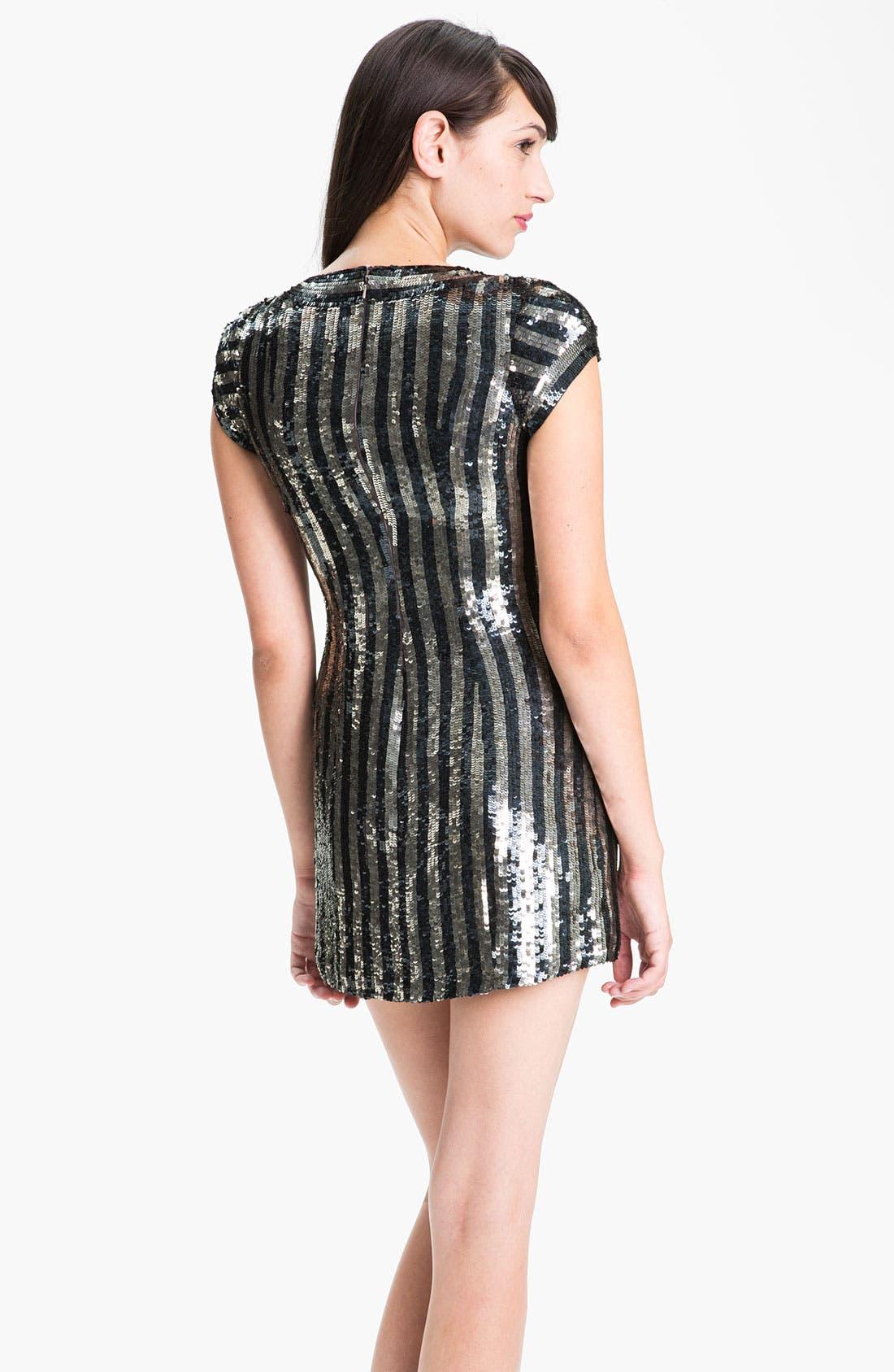 Alternate Image 2  - Parker Stripe Sequin Dress