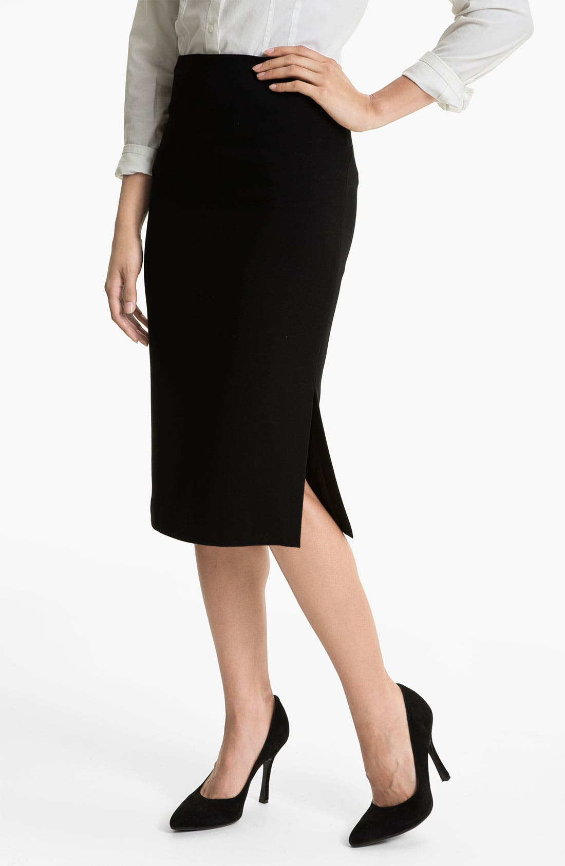 Main Image - Vince Camuto Side Slit Midi Skirt
