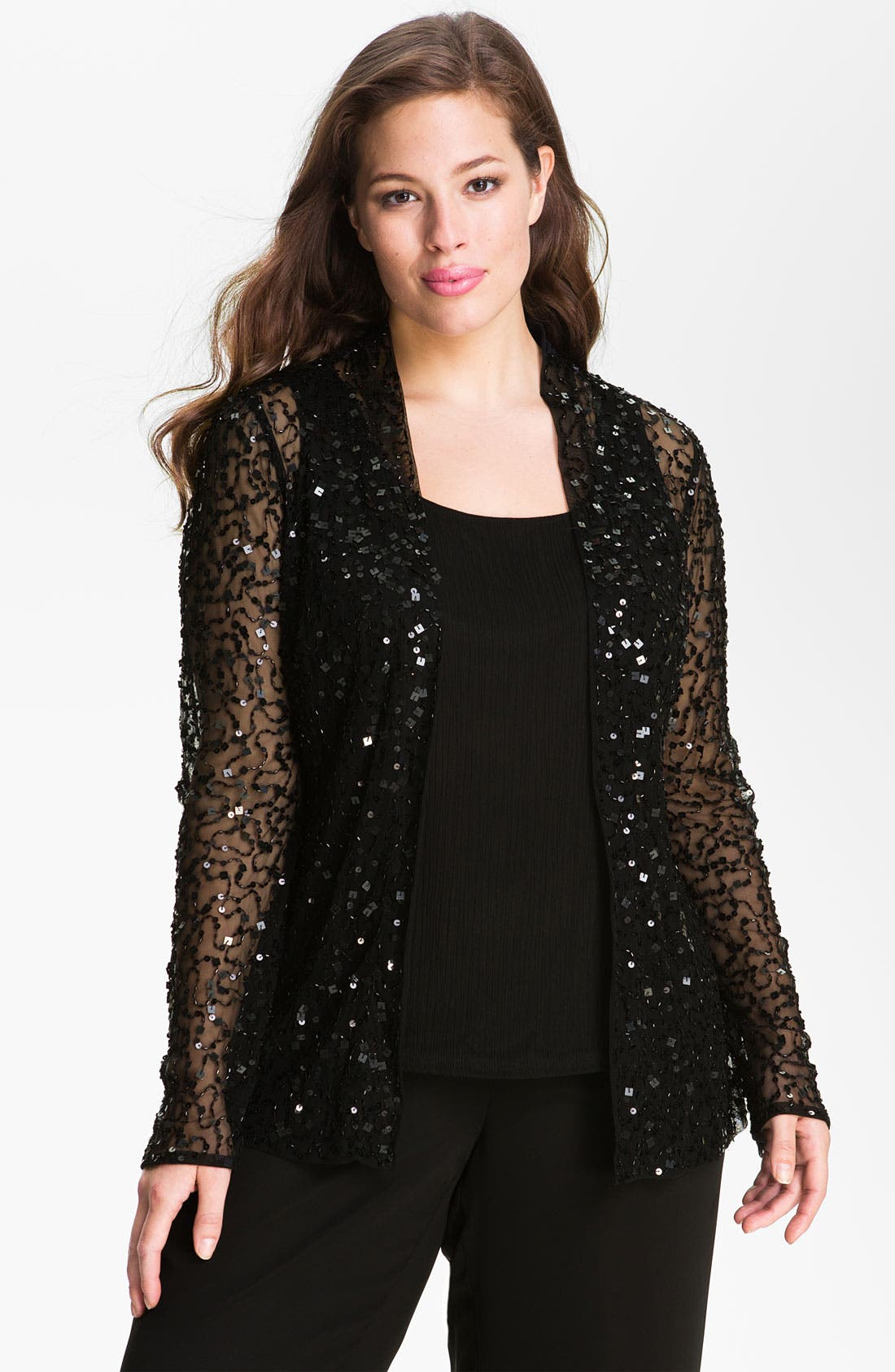 Alternate Image 1 Selected - JS Collections Sequined Twinset (Plus)