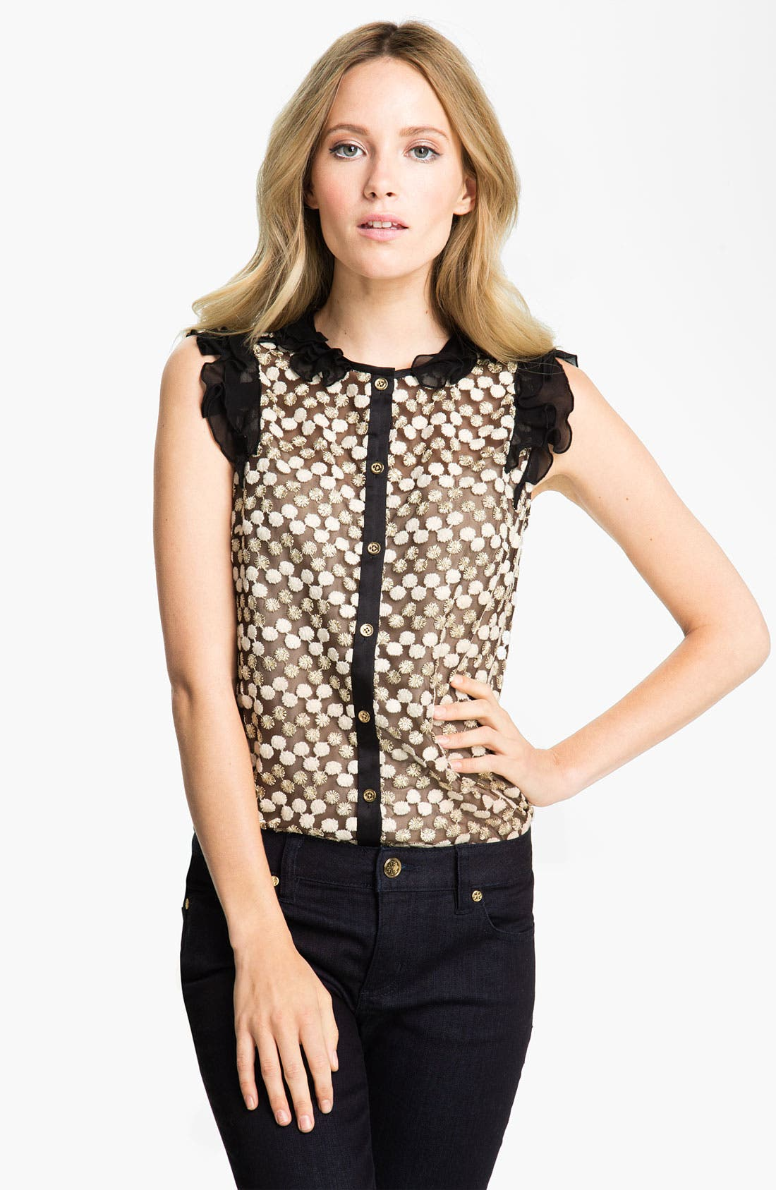 Main Image - Tory Burch 'Arabelle' Embroidered Top