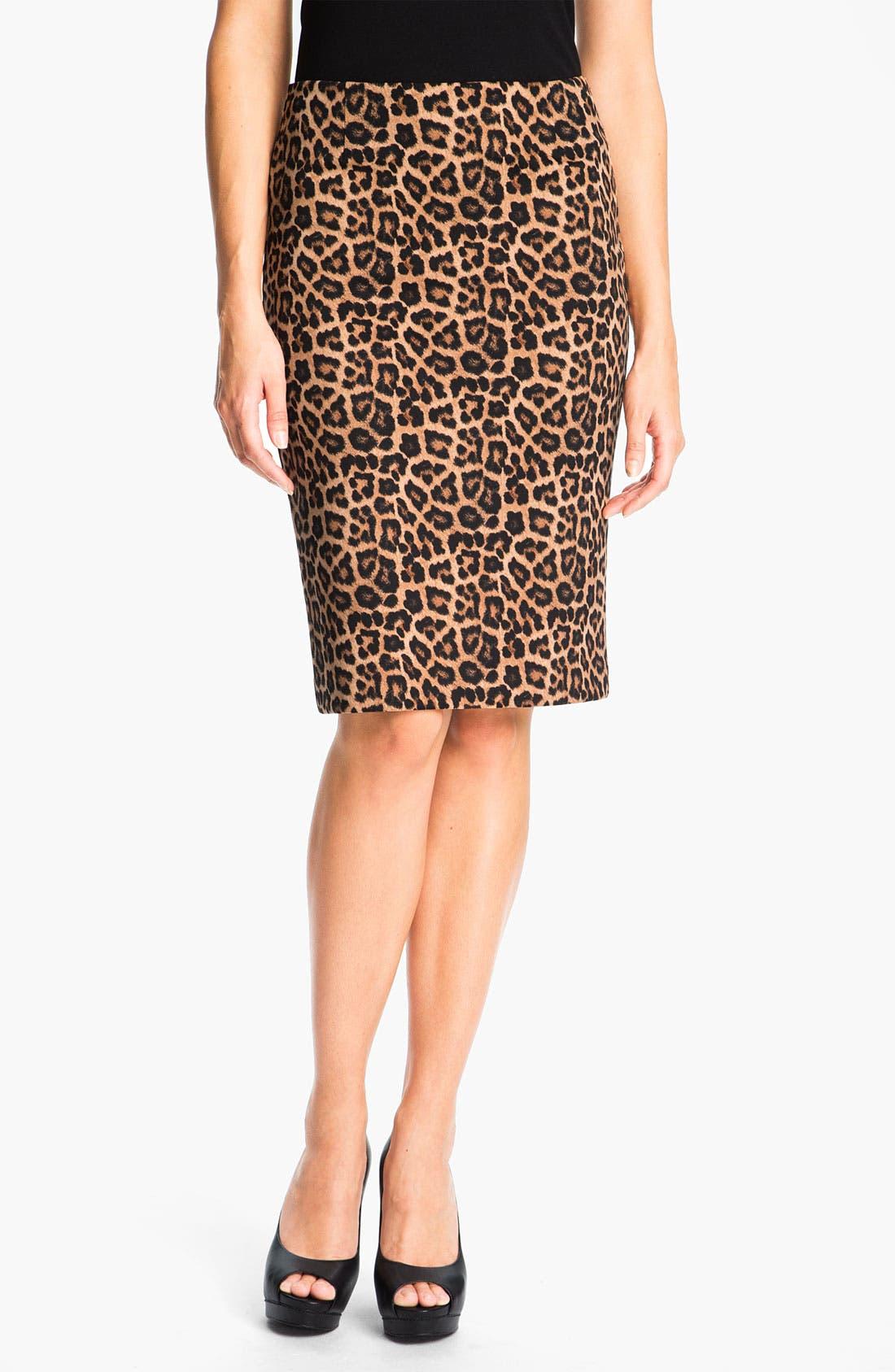 Main Image - MICHAEL Michael Kors Jaguar Print Ponte Skirt