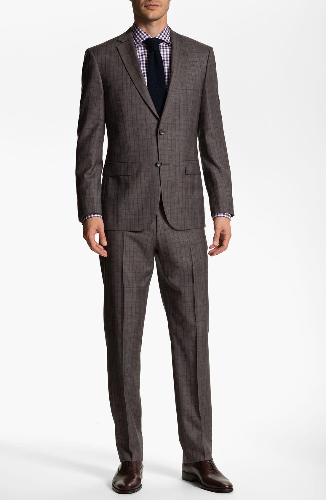 Alternate Image 2  - BOSS Selection 'Howard/Court' Trim Fit Plaid Suit