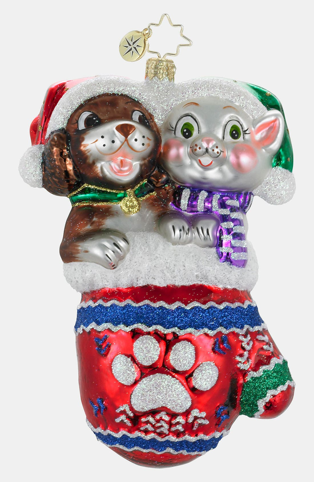 Main Image - Christopher Radko 'Pause for Paws' Ornament