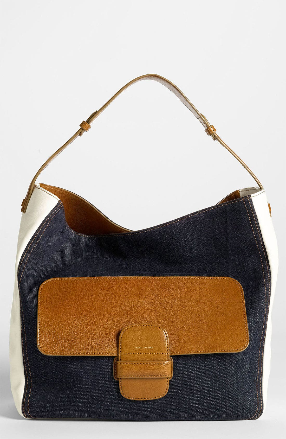 Main Image - MARC JACOBS Denim & Leather Hobo