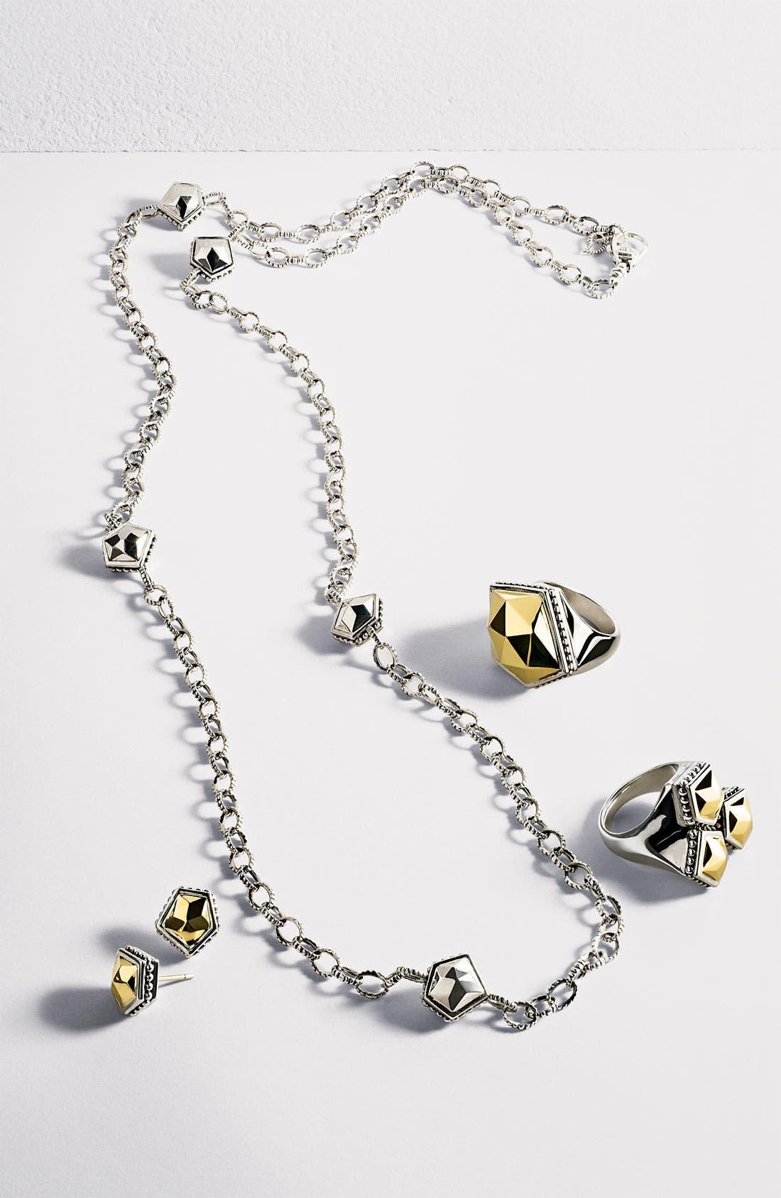 Alternate Image 3  - LAGOS 'Rocks' Angled Two Tone Earrings