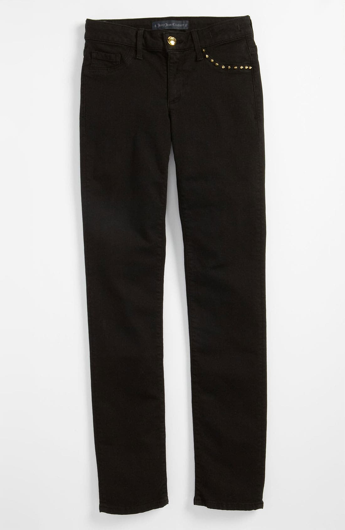 Alternate Image 2  - Juicy Couture Overdyed Skinny Jeans (Little Girls & Big Girls)
