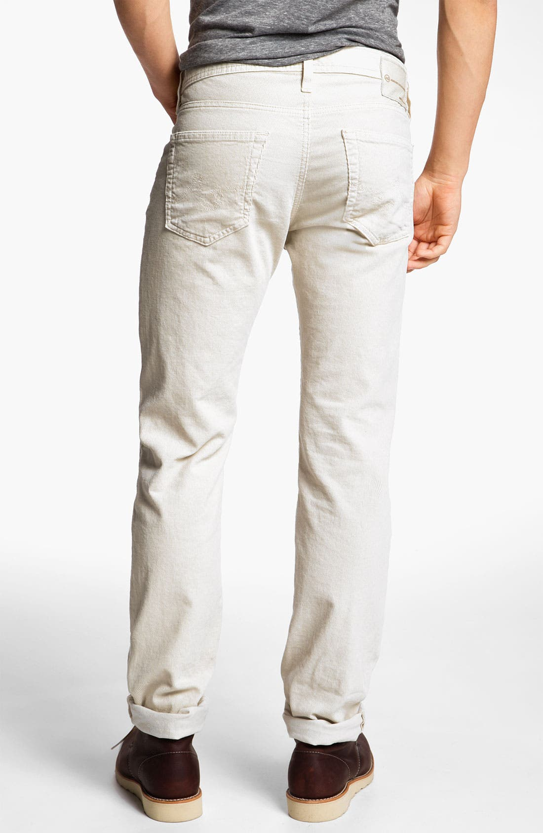 Alternate Image 2  - AG Jeans 'Matchbox' Slim Straight Leg Corduroy Pants