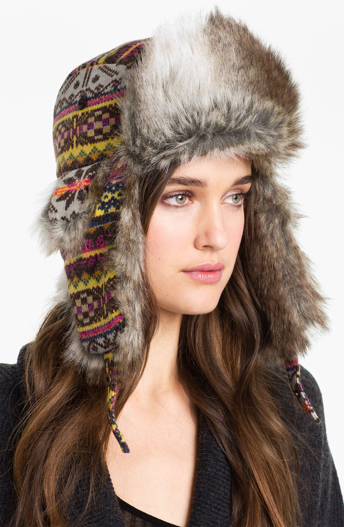 Alternate Image 1 Selected - San Diego Hat Fair Isle Trapper Hat