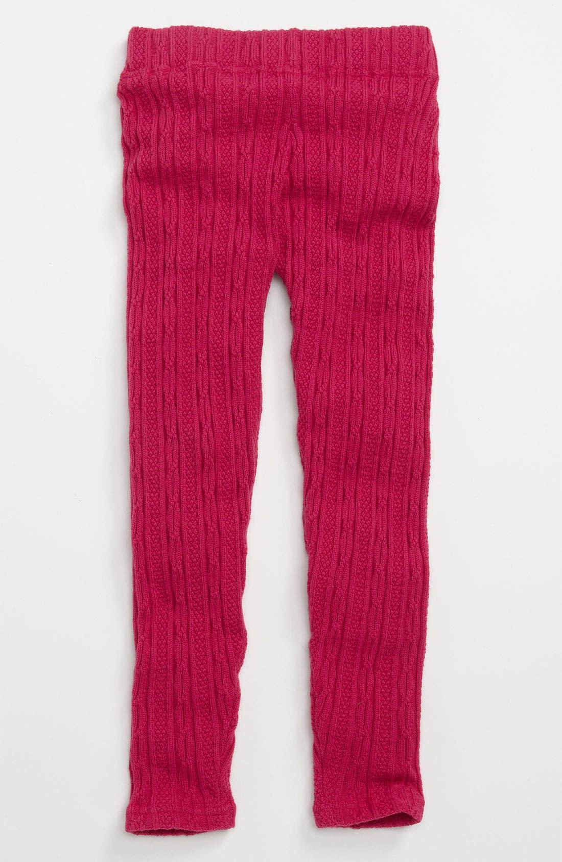 Main Image - Tucker + Tate 'Johanna' Cable Knit Leggings (Little Girls)