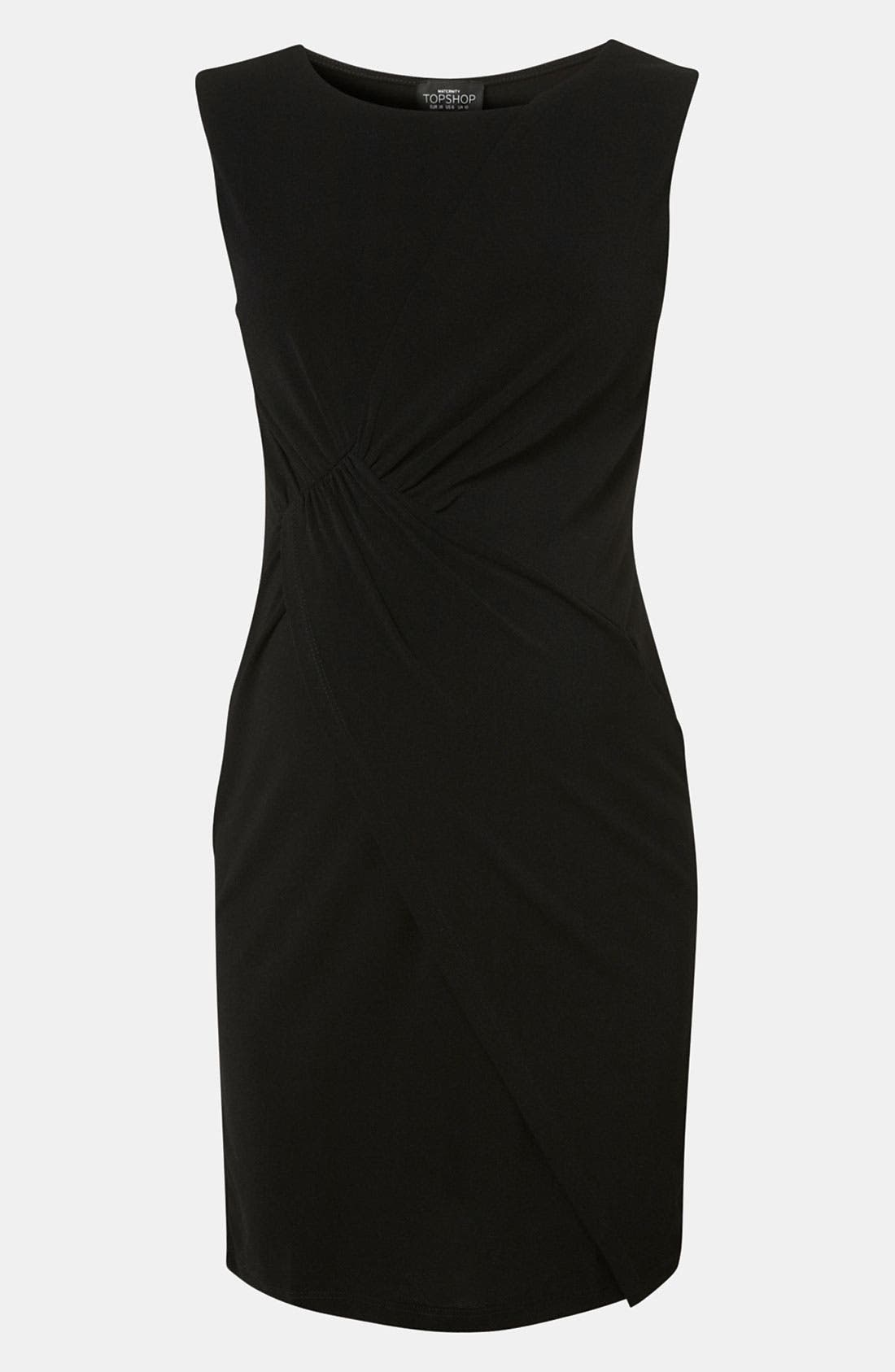 Alternate Image 2  - Topshop Knot Detail Maternity Dress