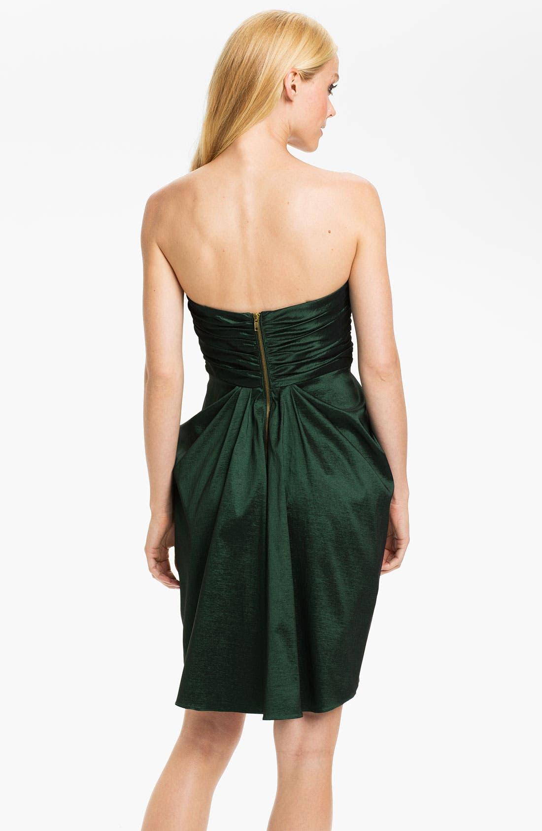 Alternate Image 2  - Aidan Mattox Strapless Drape Detail Taffeta Tulip Dress