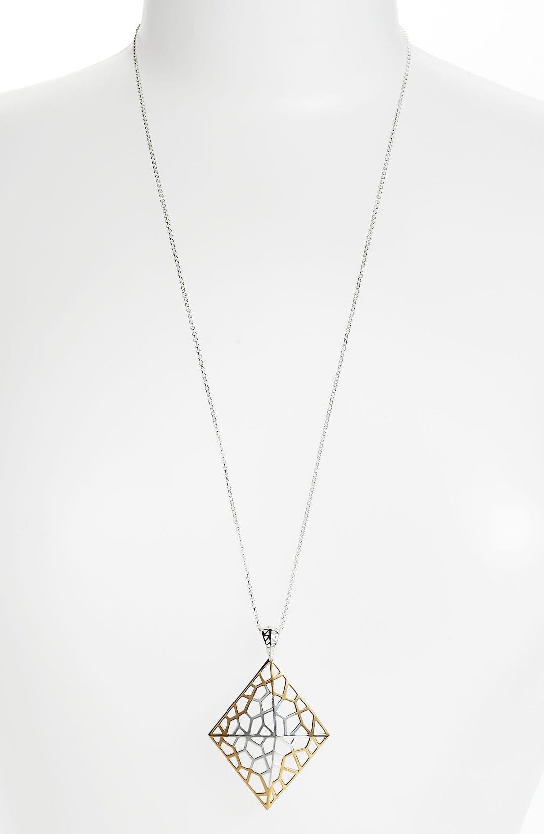 Alternate Image 2  - Argento Vivo 'Prism' Long Diamond Shape Pendant Necklace
