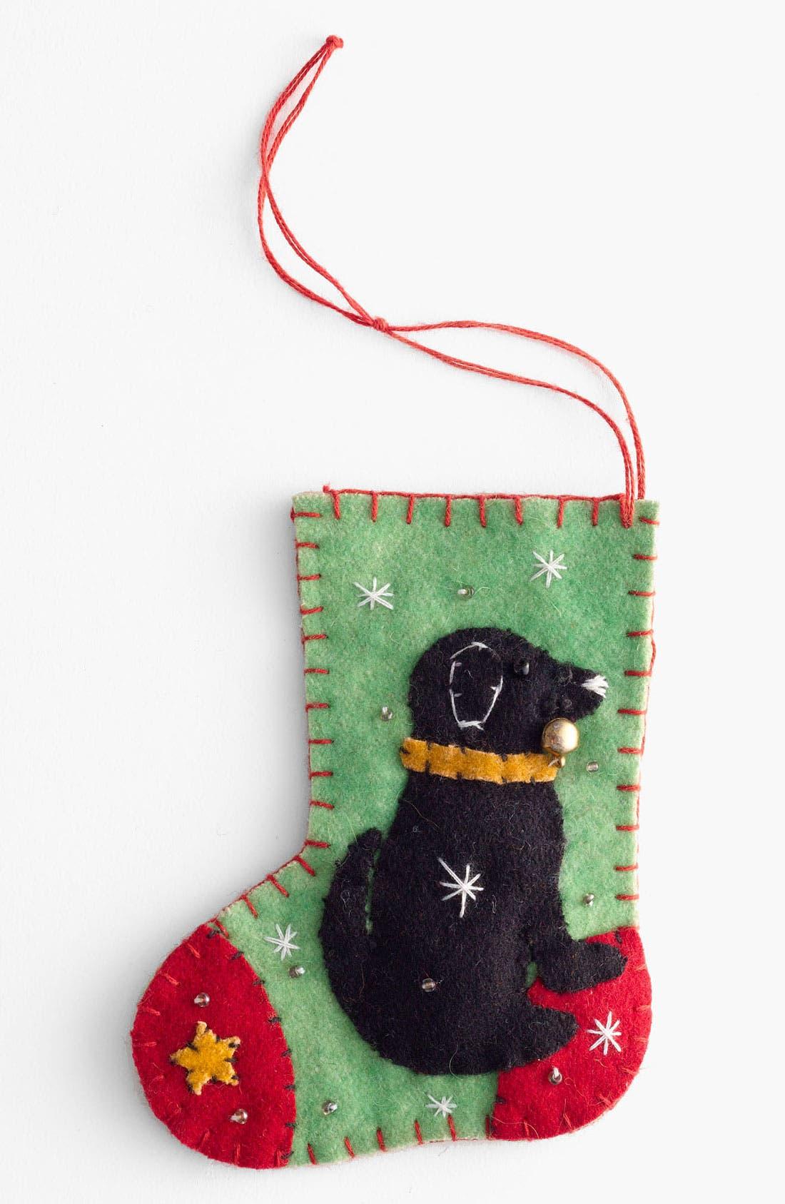 Main Image - New World Arts 'Black Lab' Stocking Ornament
