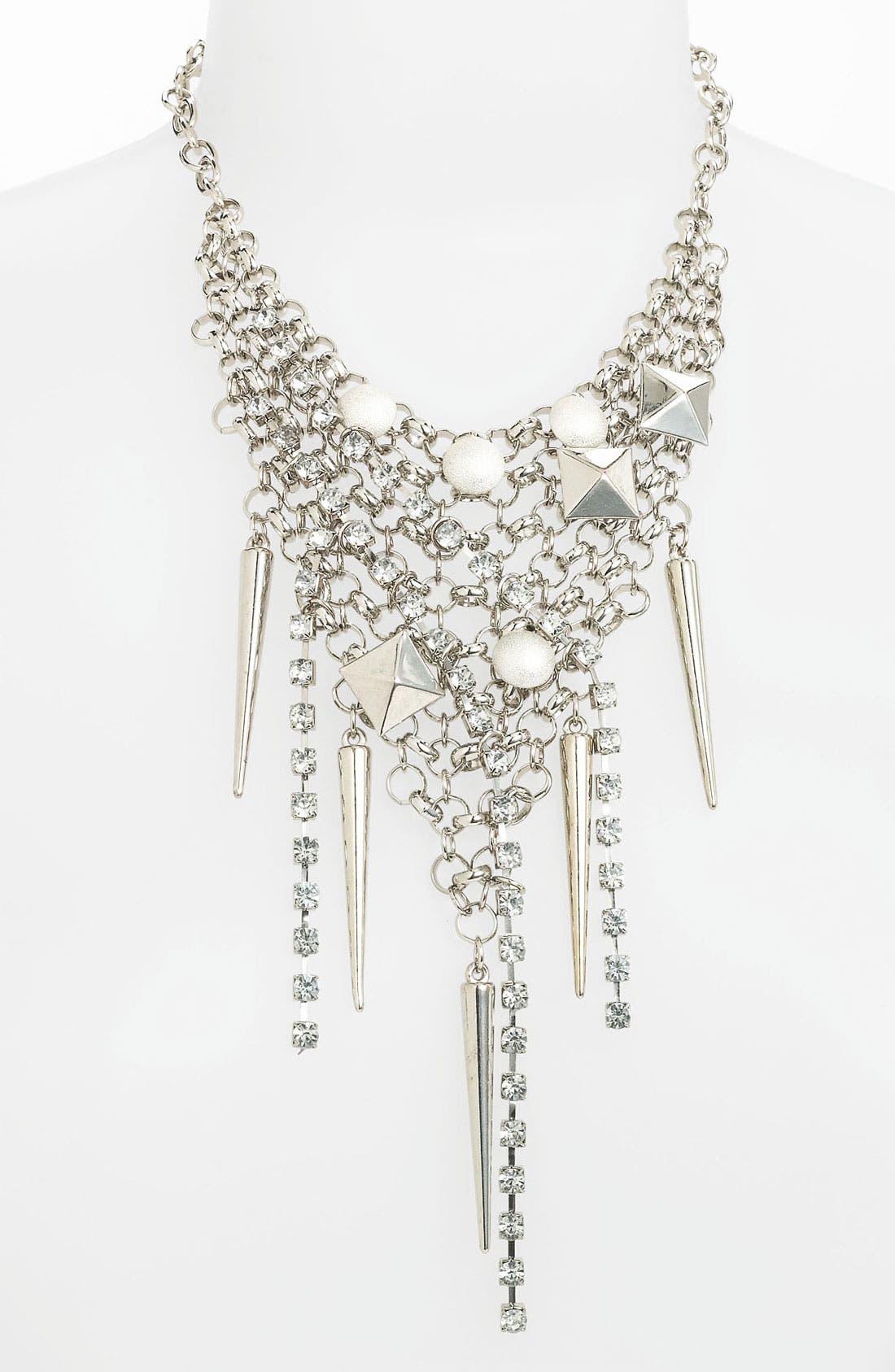 Alternate Image 1 Selected - Cara Grommet & Crystal Bib Necklace
