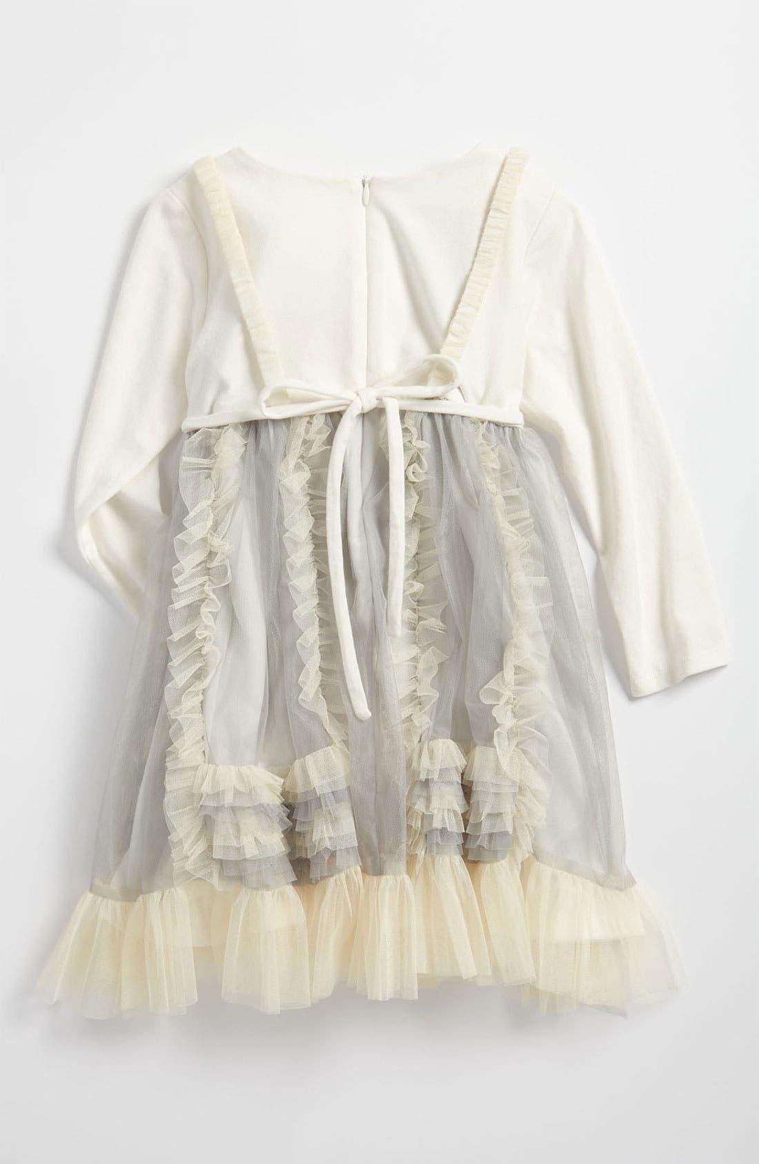 Alternate Image 2  - Isobella & Chloe Mesh Dress (Toddler)