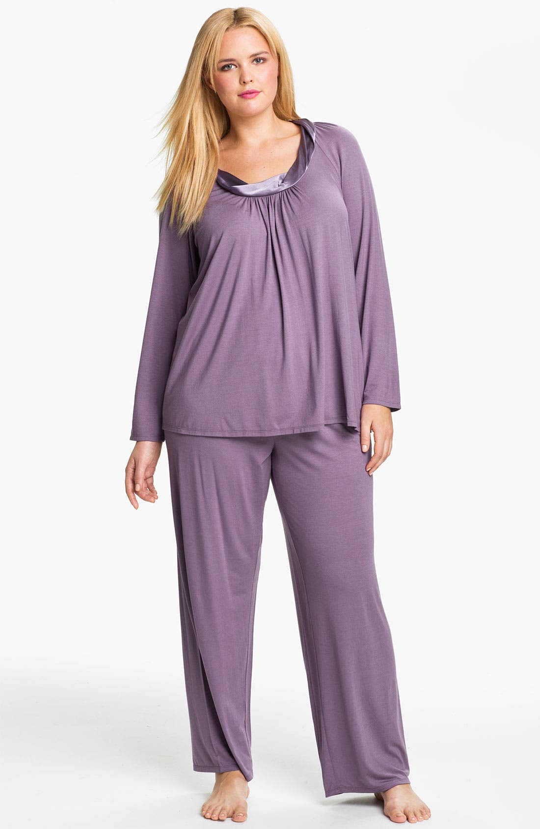 Alternate Image 1 Selected - Midnight by Carole Hochman 'Forever & Always' Pajamas (Plus)