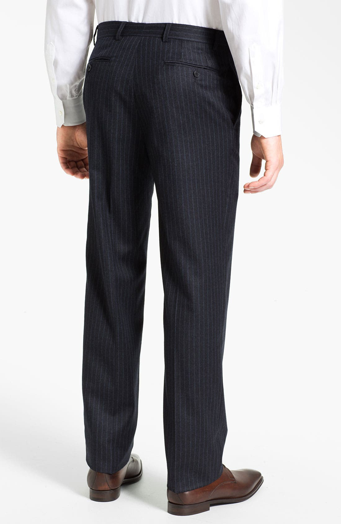 Alternate Image 5  - Joseph Abboud Double Breasted Pinstripe Suit