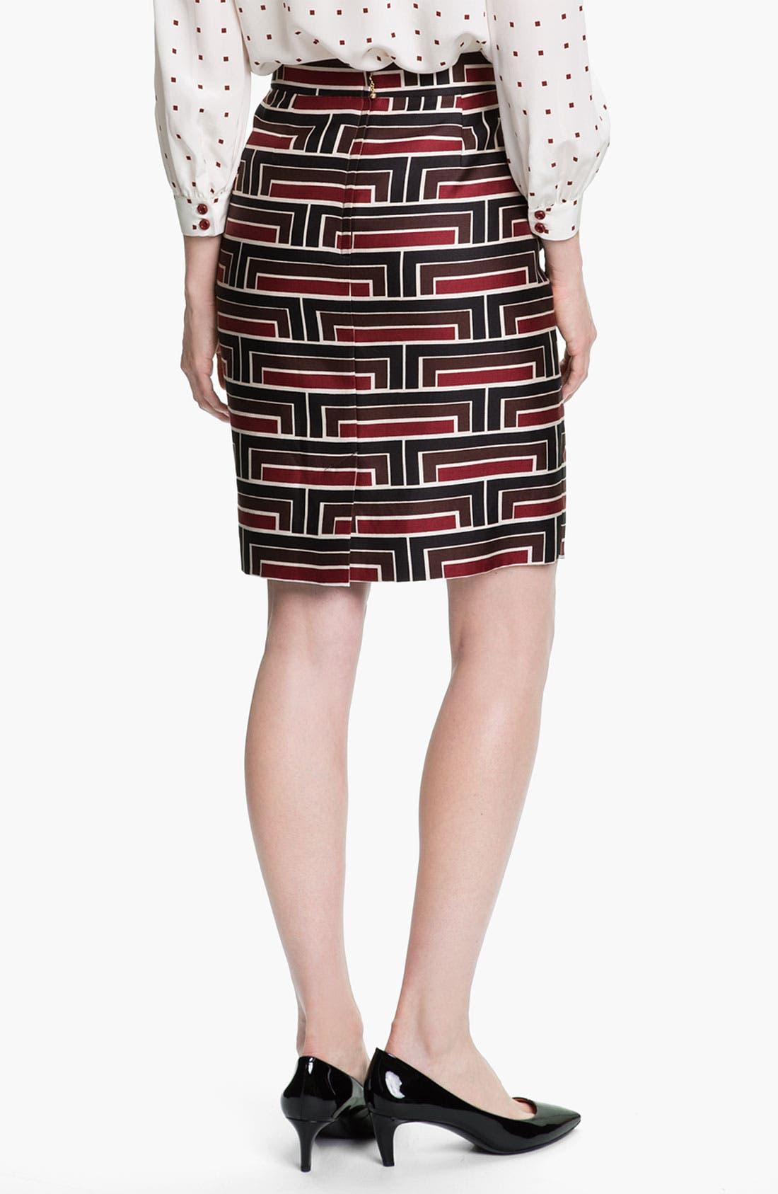 Alternate Image 2  - kate spade new york 'jordan' print skirt