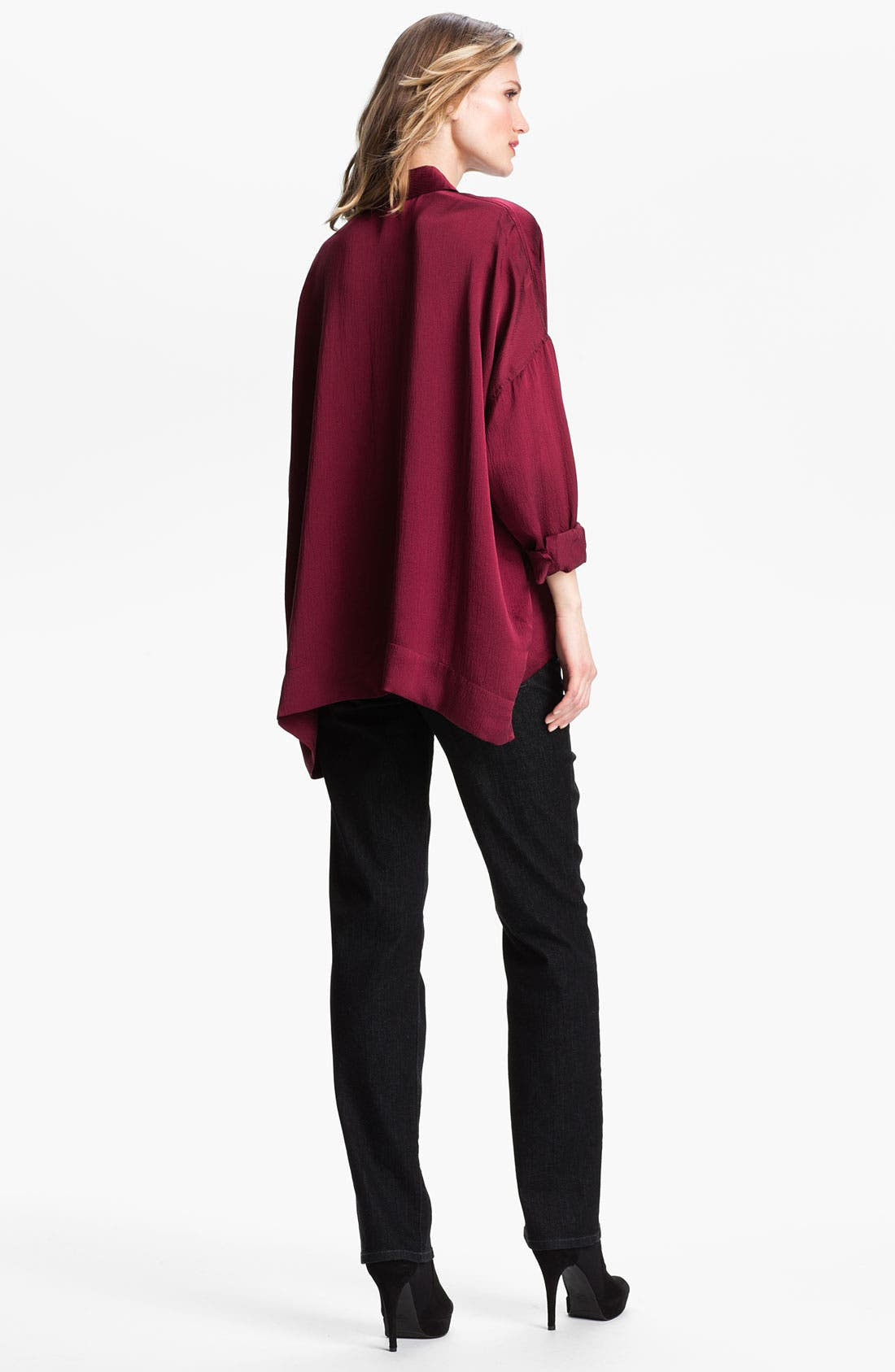 Alternate Image 5  - Eileen Fisher Hammered Silk Shirt