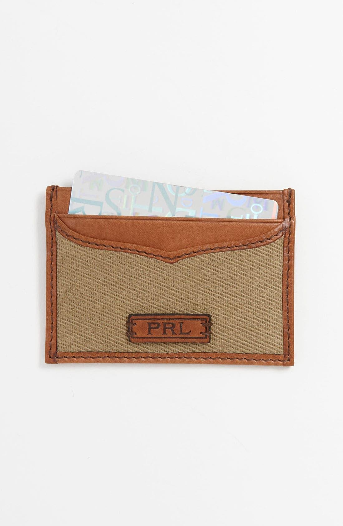 Main Image - Polo Ralph Lauren Canvas Card Case