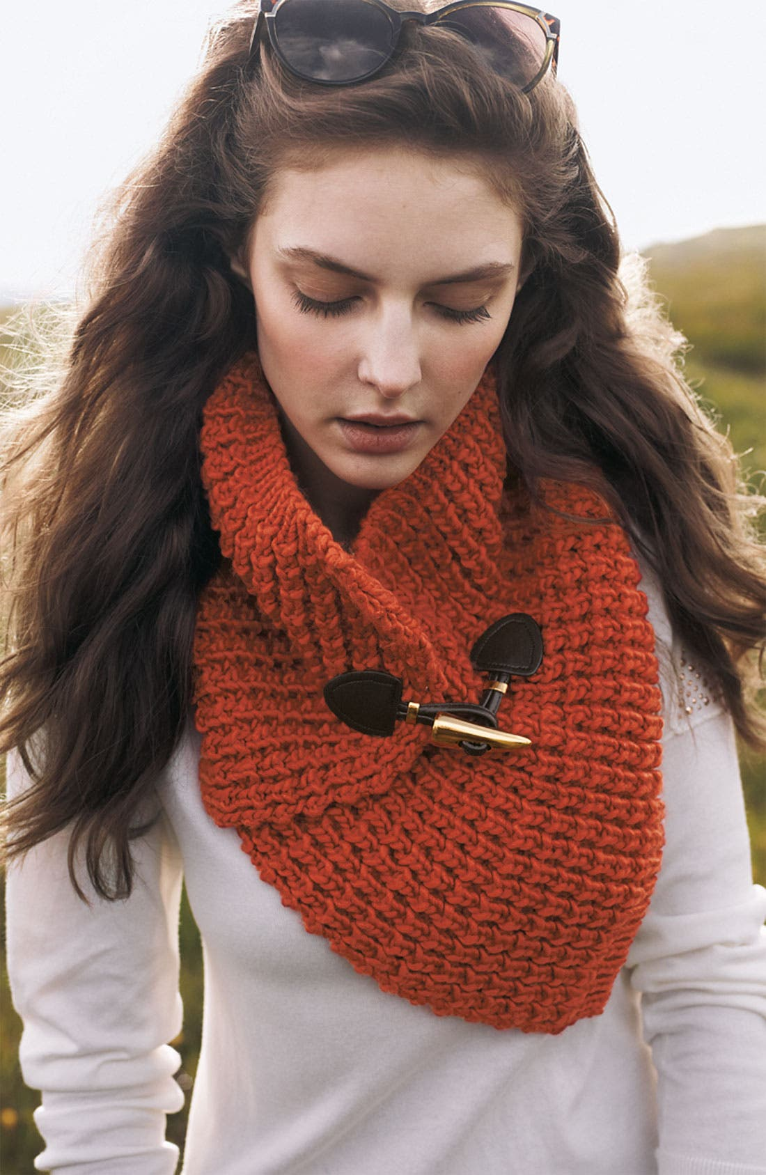 Alternate Image 2  - MICHAEL Michael Kors Toggle Neck Warmer