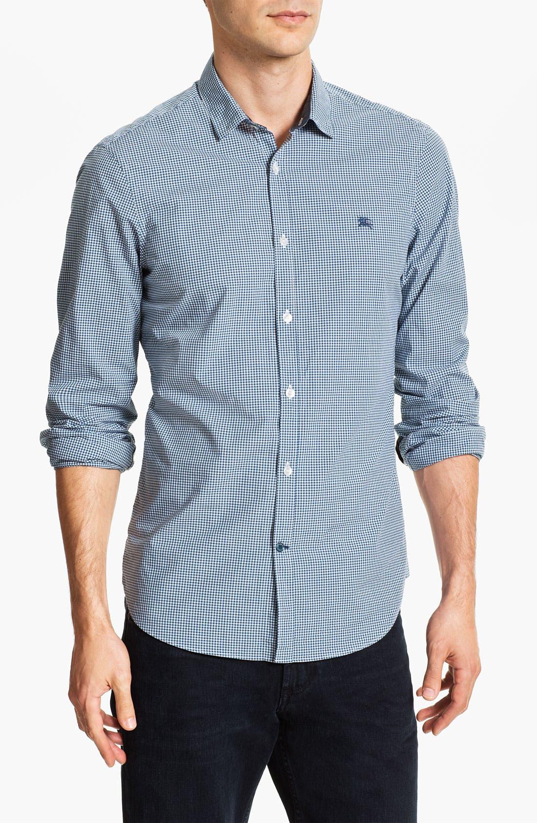 Alternate Image 1 Selected - Burberry Trim Fit Sport Shirt
