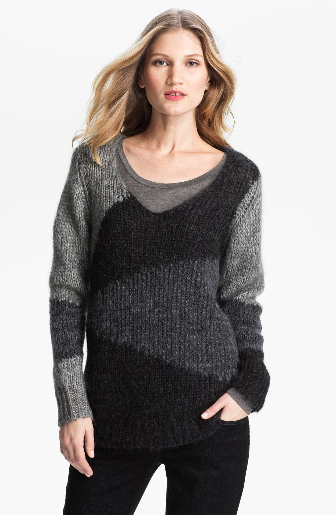 Alternate Image 1 Selected - Eileen Fisher Colorblock Mohair Blend Tunic