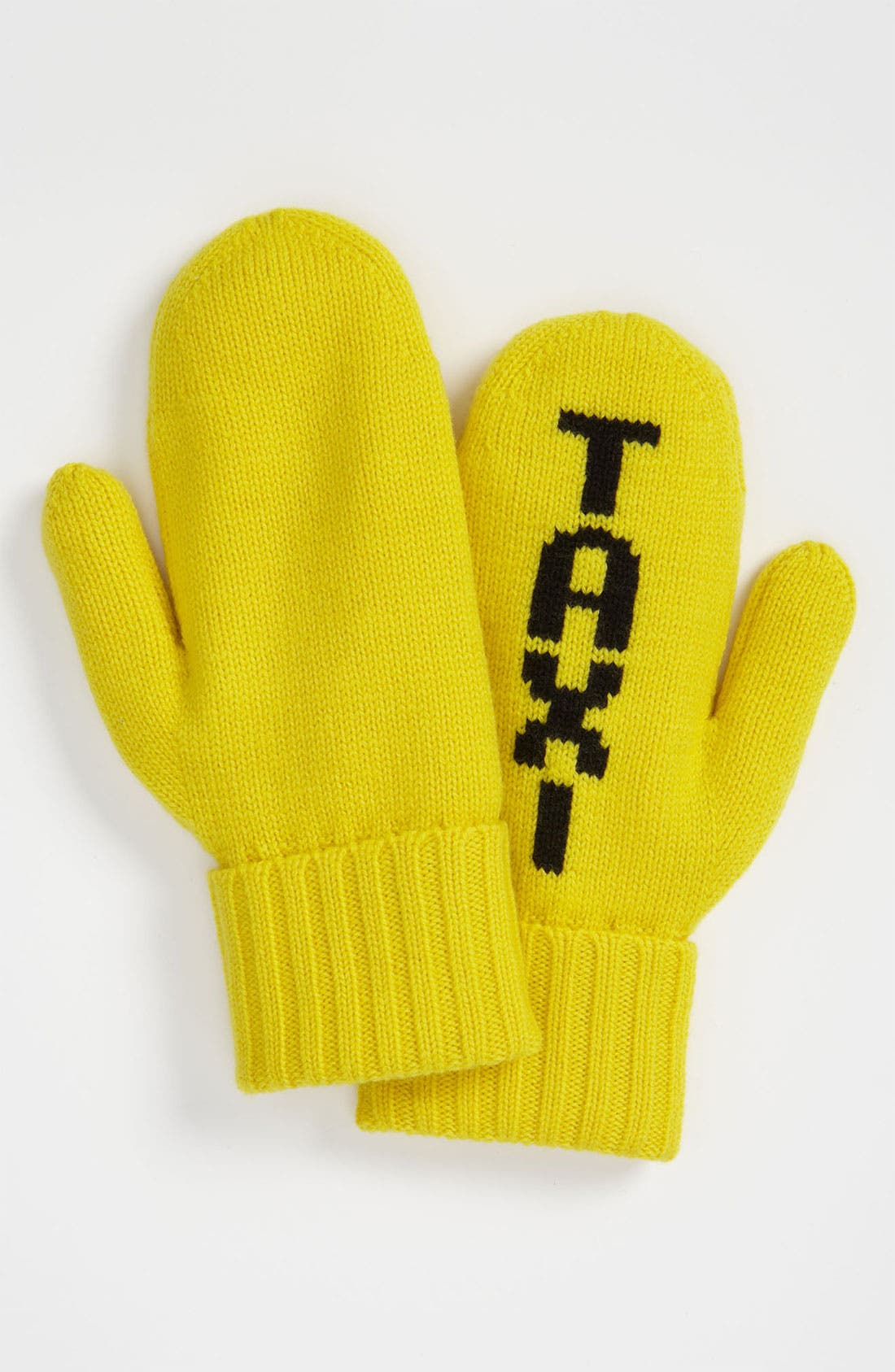 Alternate Image 2  - kate spade new york 'big apple - taxi' wool mittens