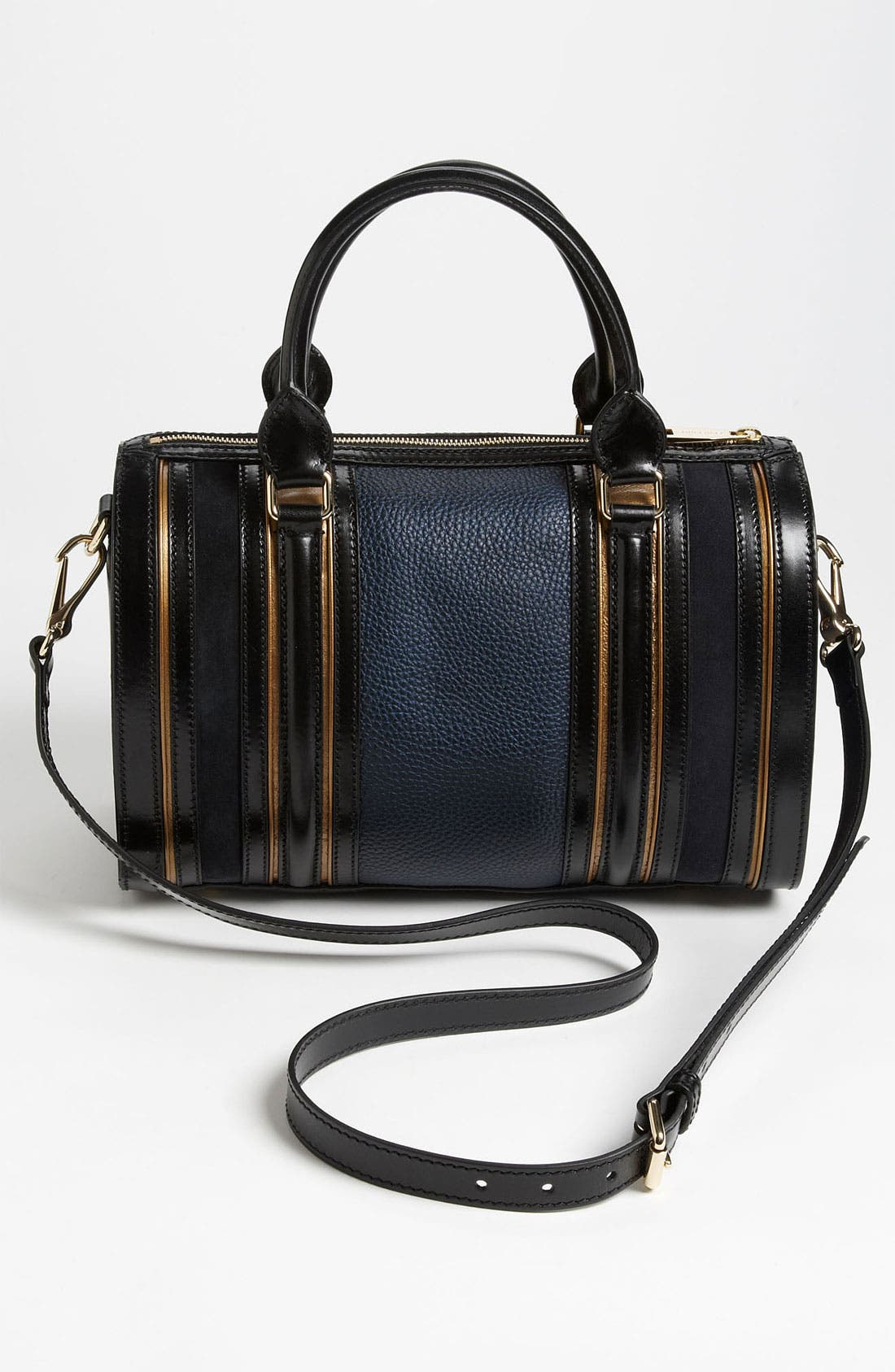 Alternate Image 4  - Burberry Leather & Suede Bowling Bag