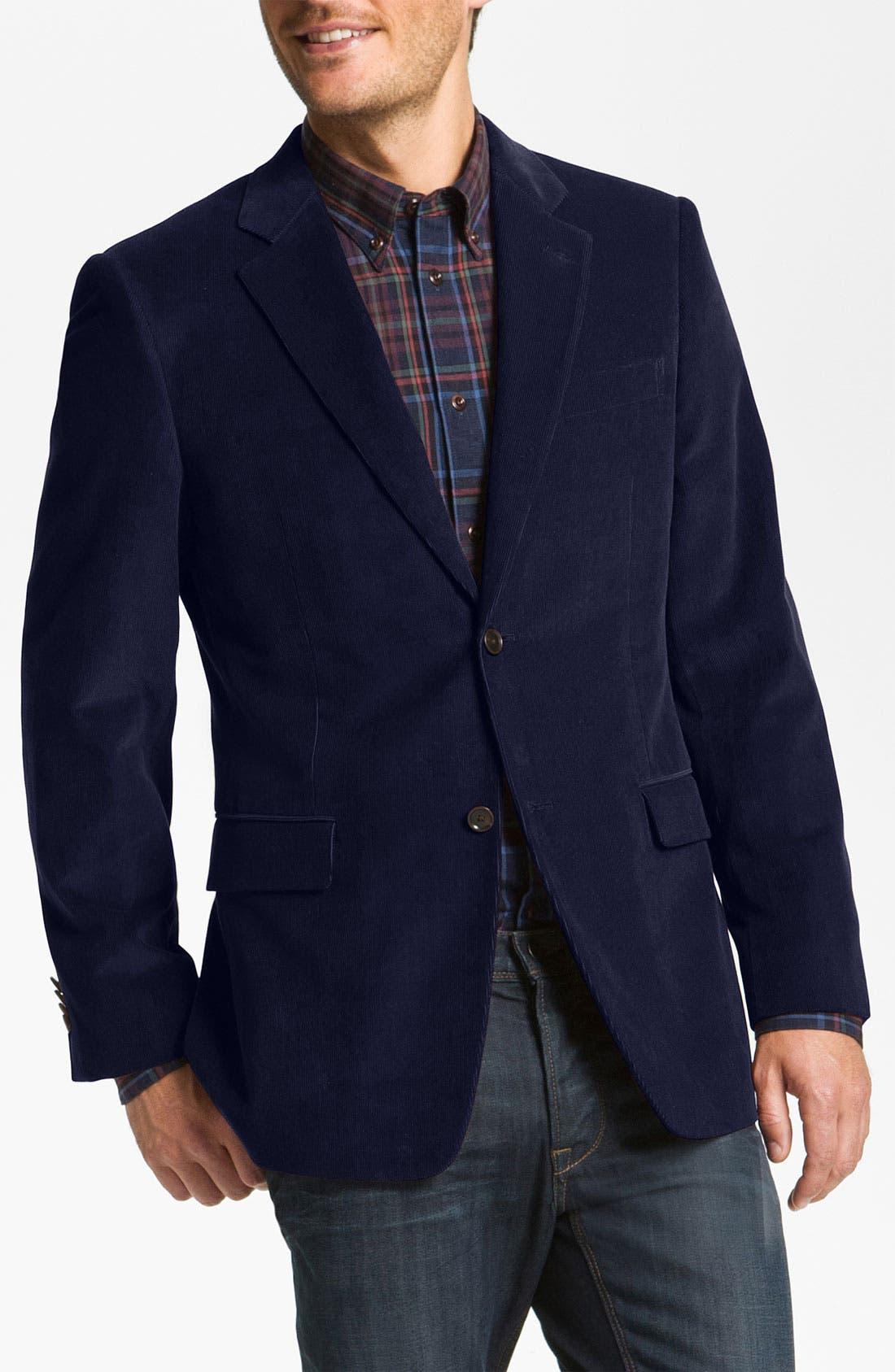 Main Image - John W. Nordstrom® Cotton Cashmere Corduroy Blazer