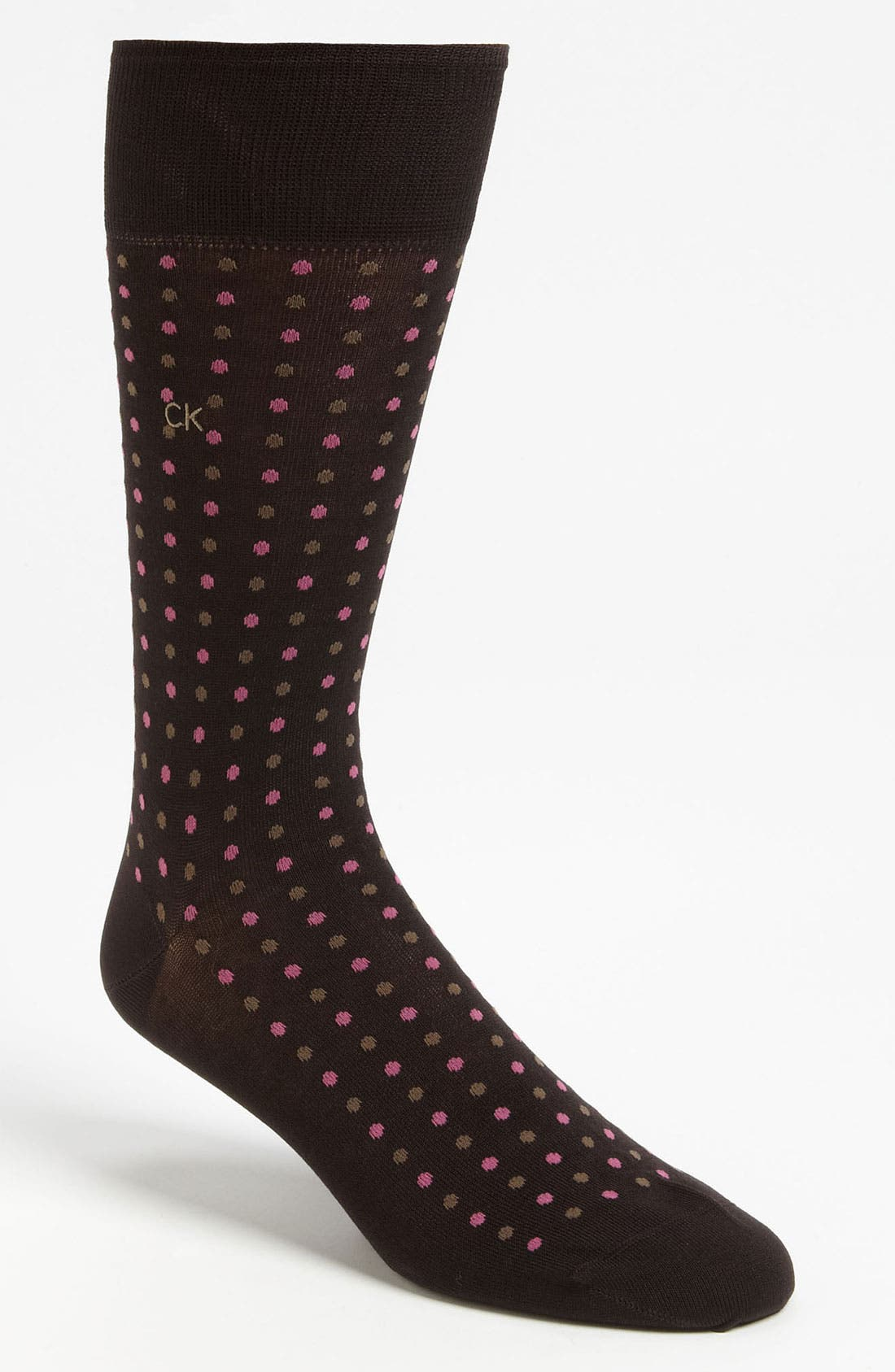 Main Image - Calvin Klein Dot Socks
