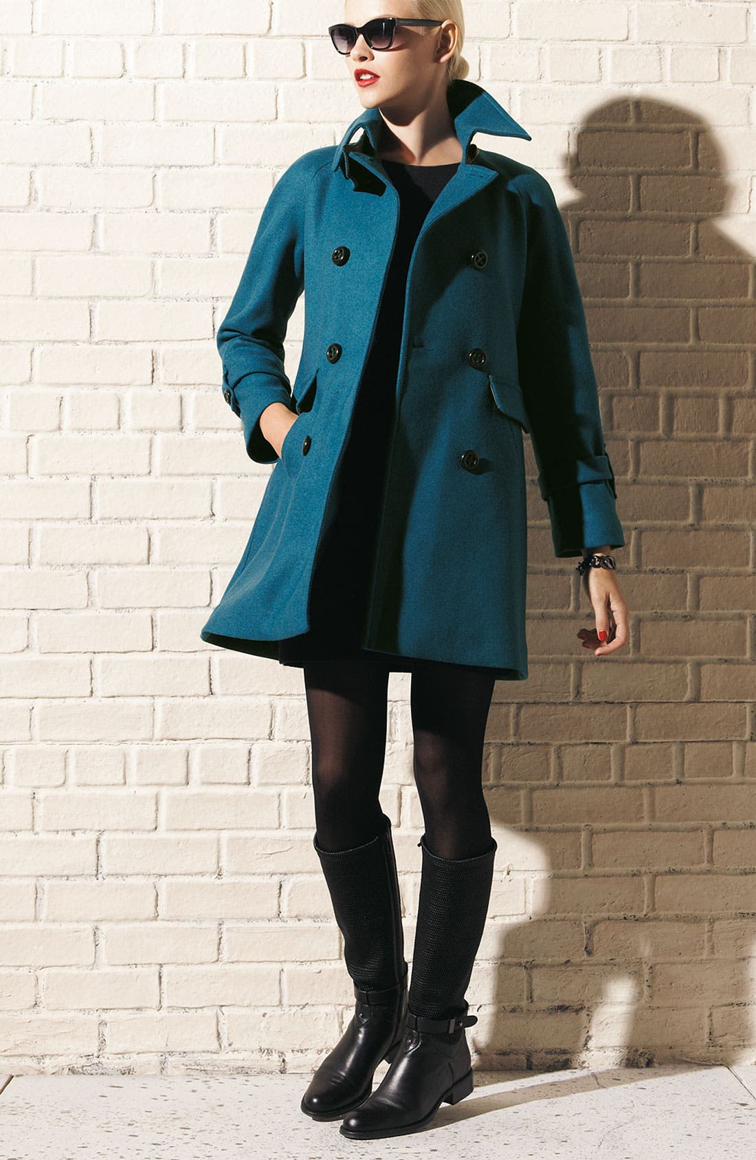 Main Image - Trina Turk Coat & kate spade new york dress