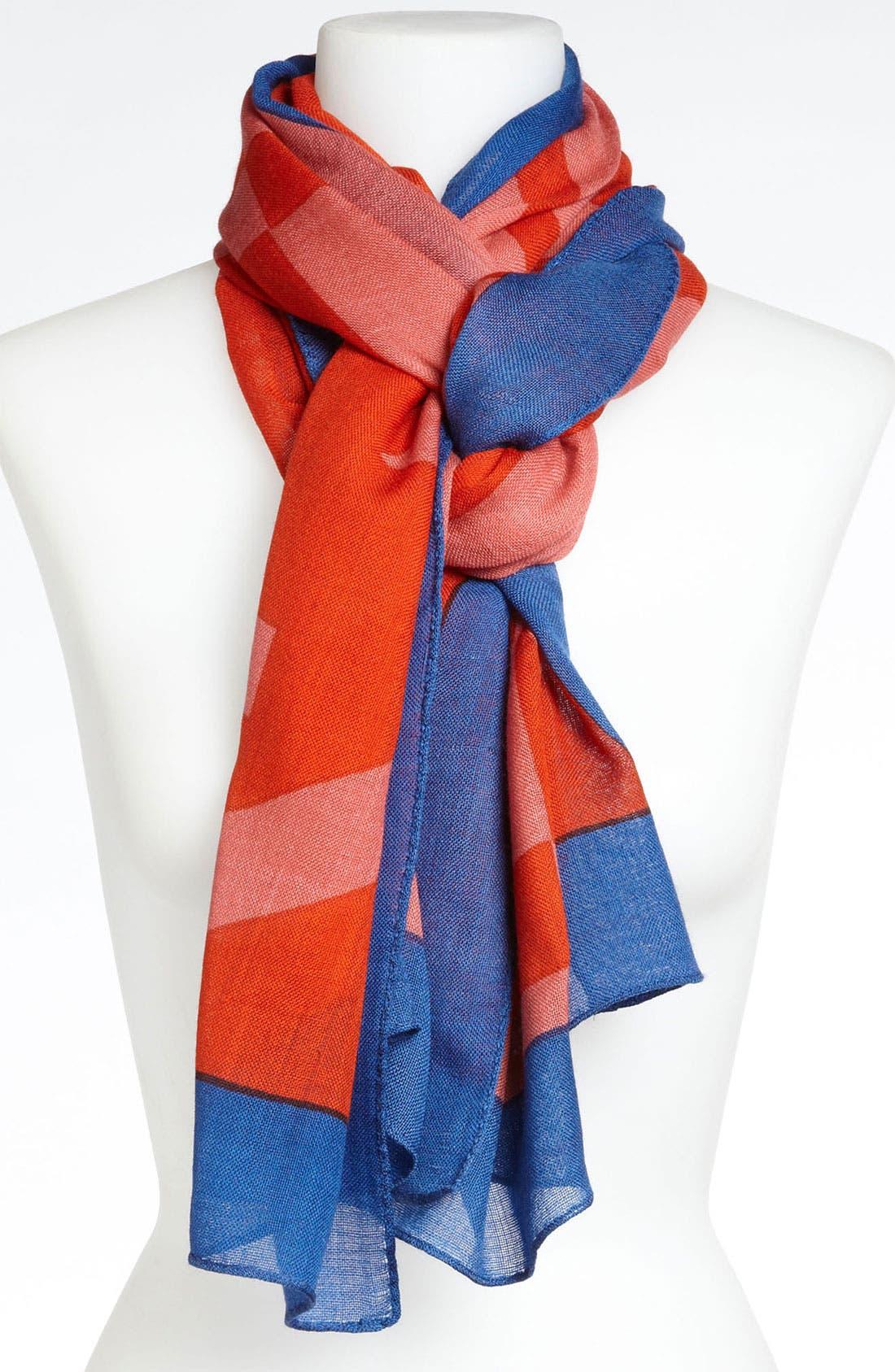 Main Image - Tory Burch 'Reva' Print Wool Scarf
