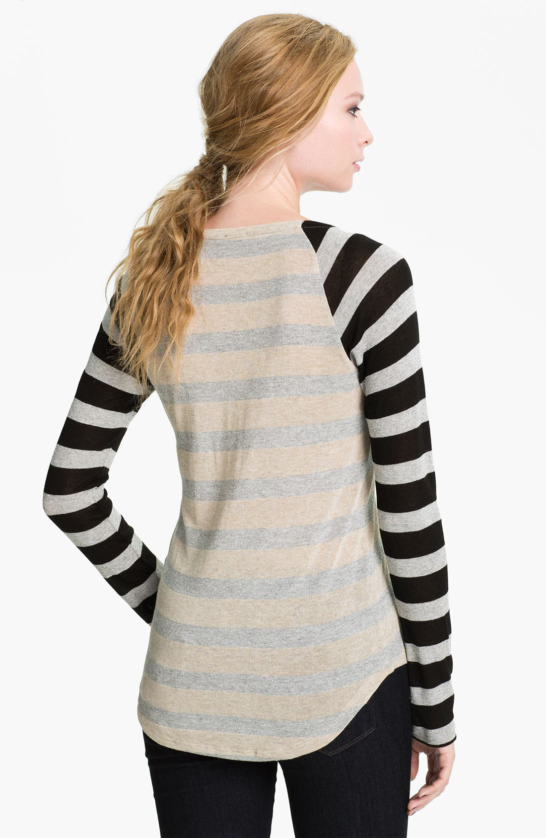 Alternate Image 2  - Splendid 'Rugby' Stripe Baseball Tee