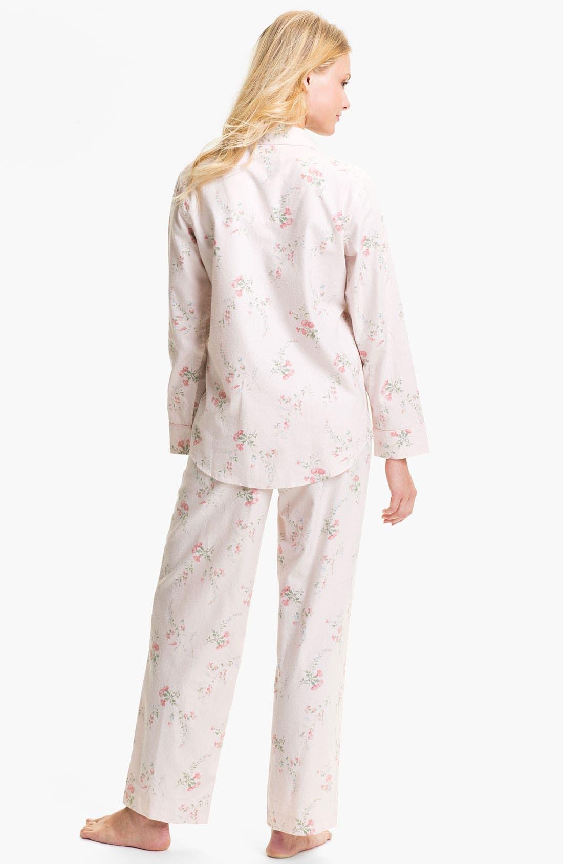 Alternate Image 2  - Lauren Ralph Lauren Sleepwear Pattern Brushed Twill Pajamas