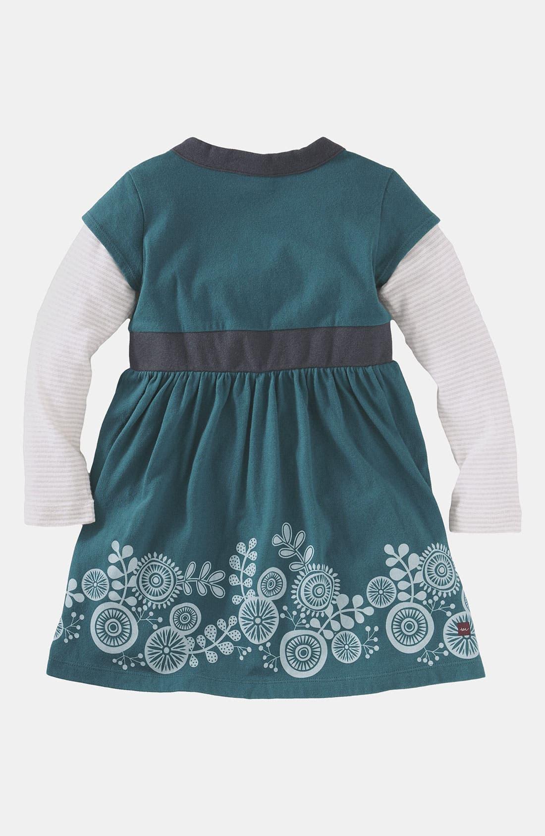 Alternate Image 2  - Tea Collection 'Pinwheel' Layered Sleeve Dress (Toddler)