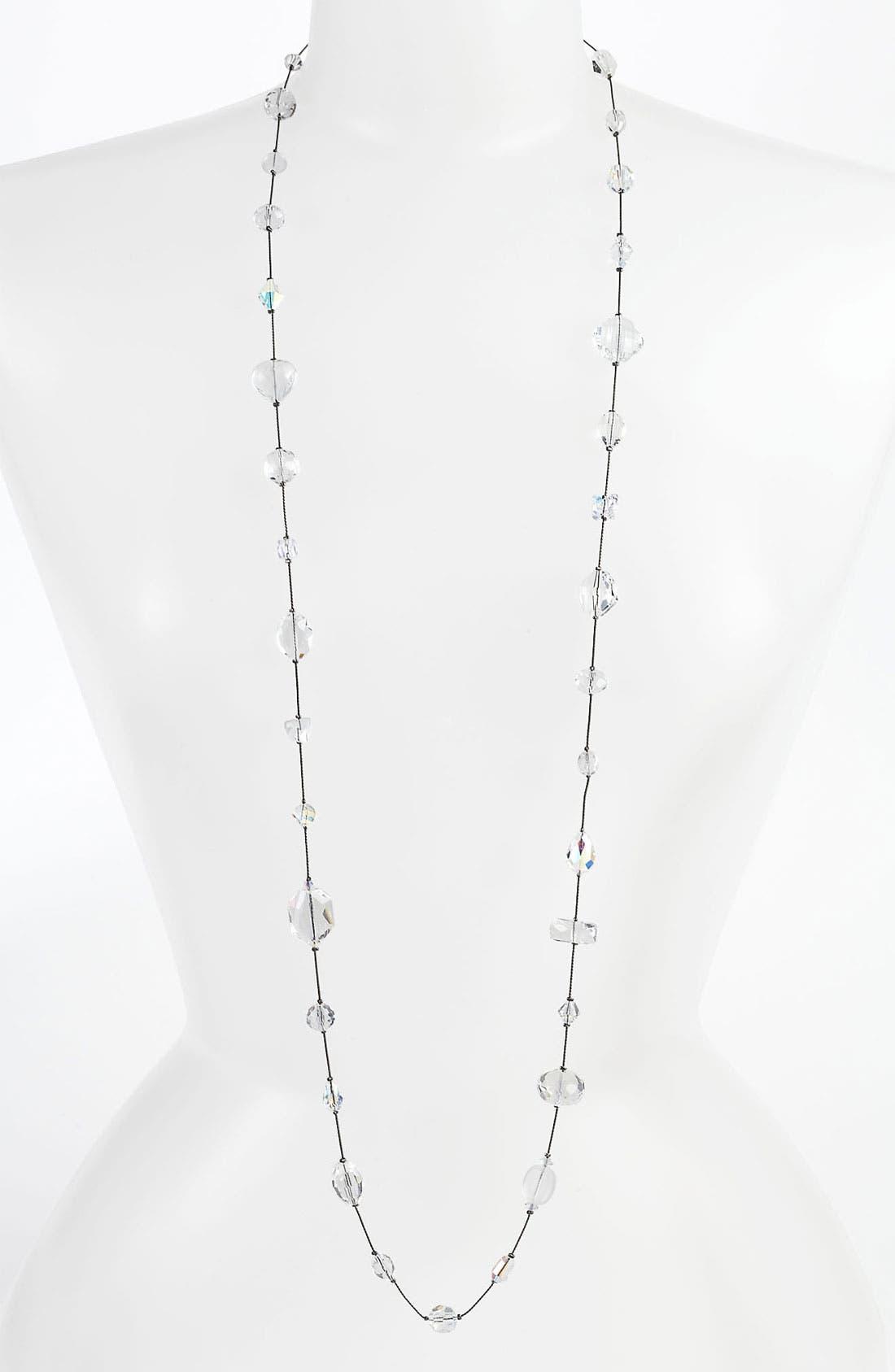 Alternate Image 1 Selected - Dabby Reid Long Strand Semiprecious & Crystal Necklace