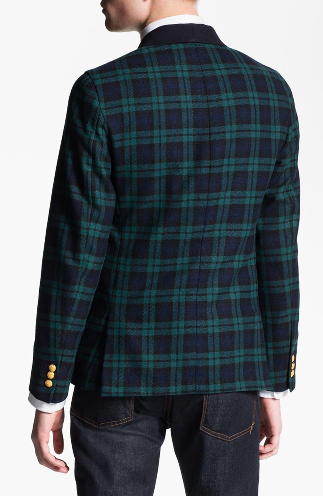 Alternate Image 2  - Gant Rugger 'Black Watch Tux' One Button Blazer