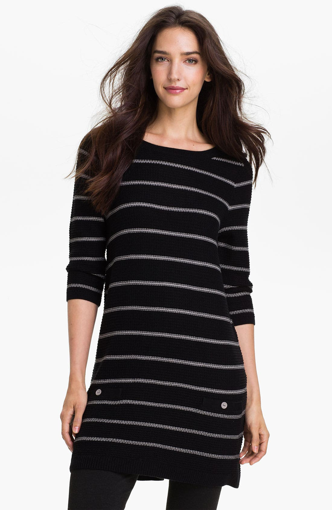 Main Image - Caslon® Crewneck Stripe Tunic Sweater