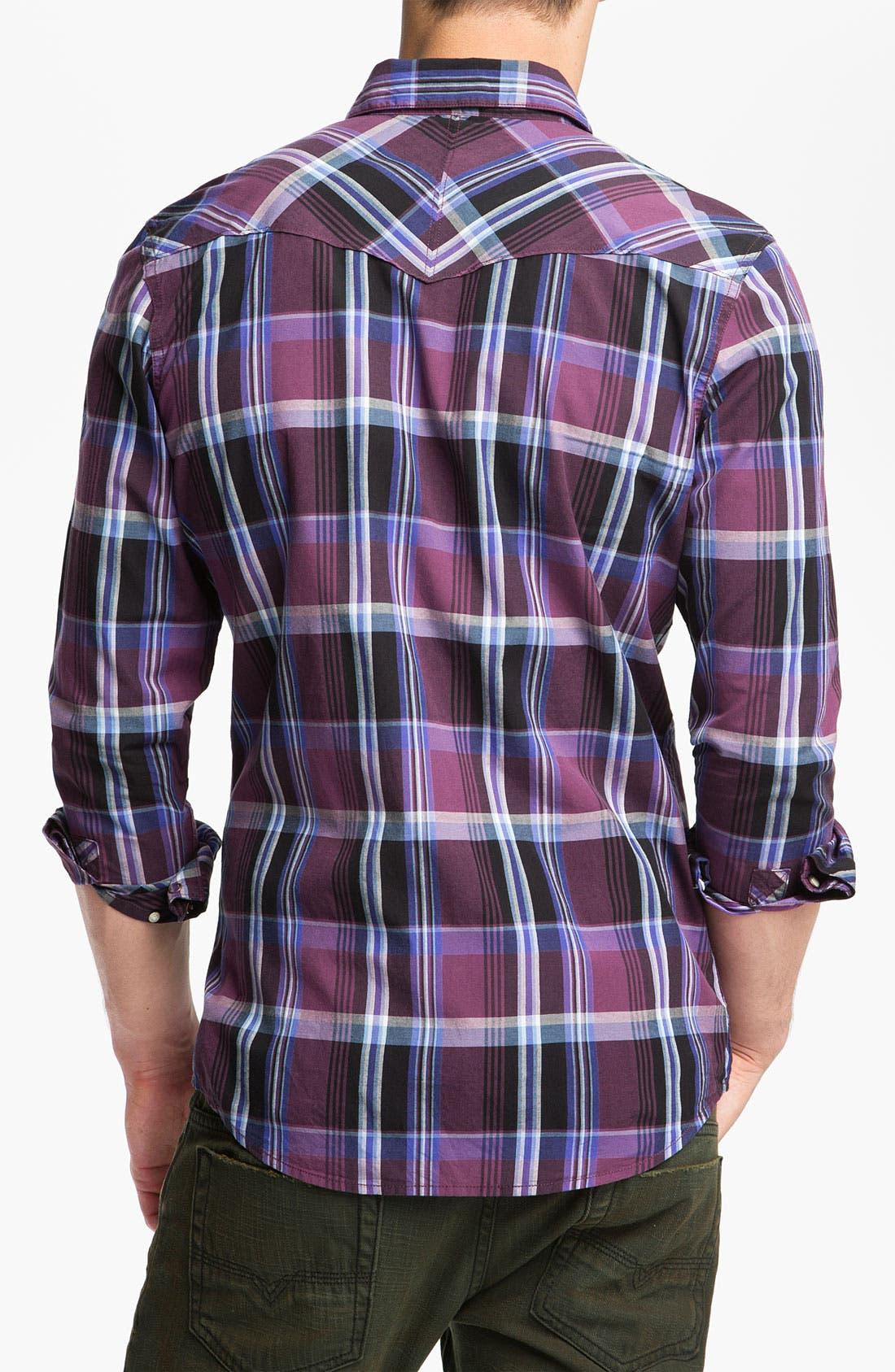 Alternate Image 2  - Public Opinion Plaid Poplin Western Shirt