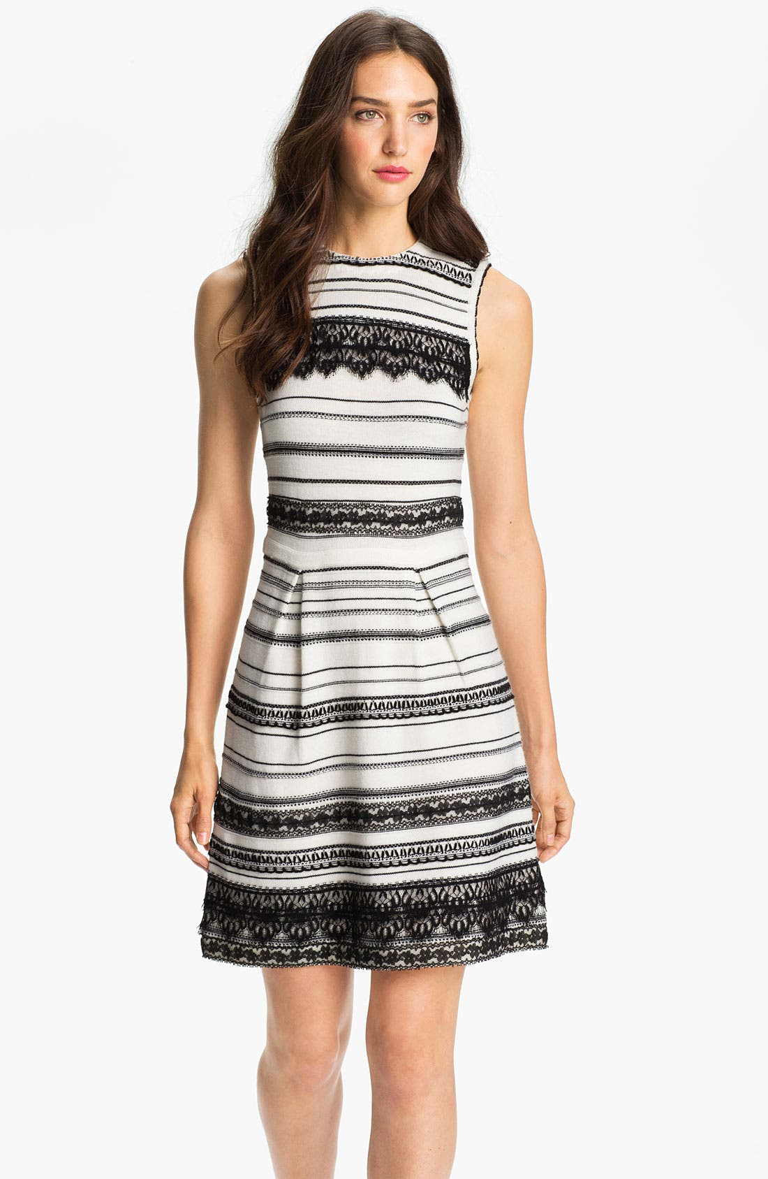 Alternate Image 1 Selected - Nanette Lepore 'Peace & Soul' Merino Wool Fit & Flare Dress