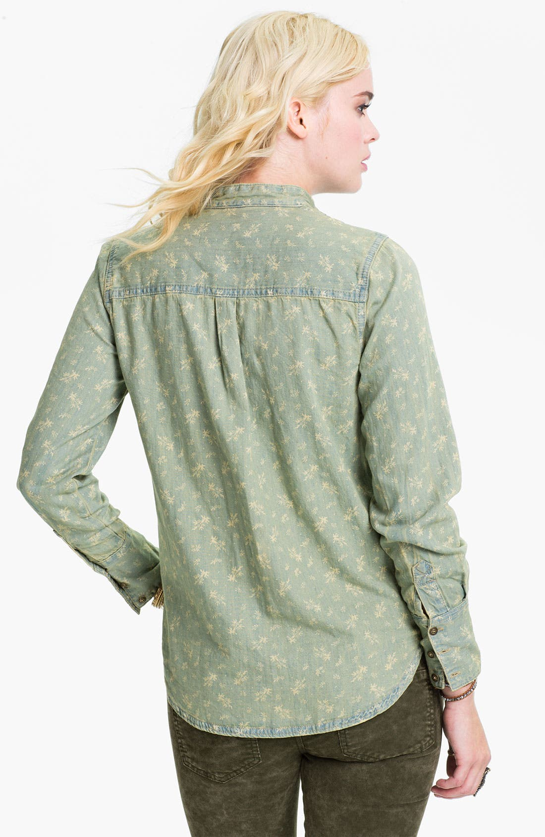 Alternate Image 2  - Free People Bleached Chambray Tux Shirt