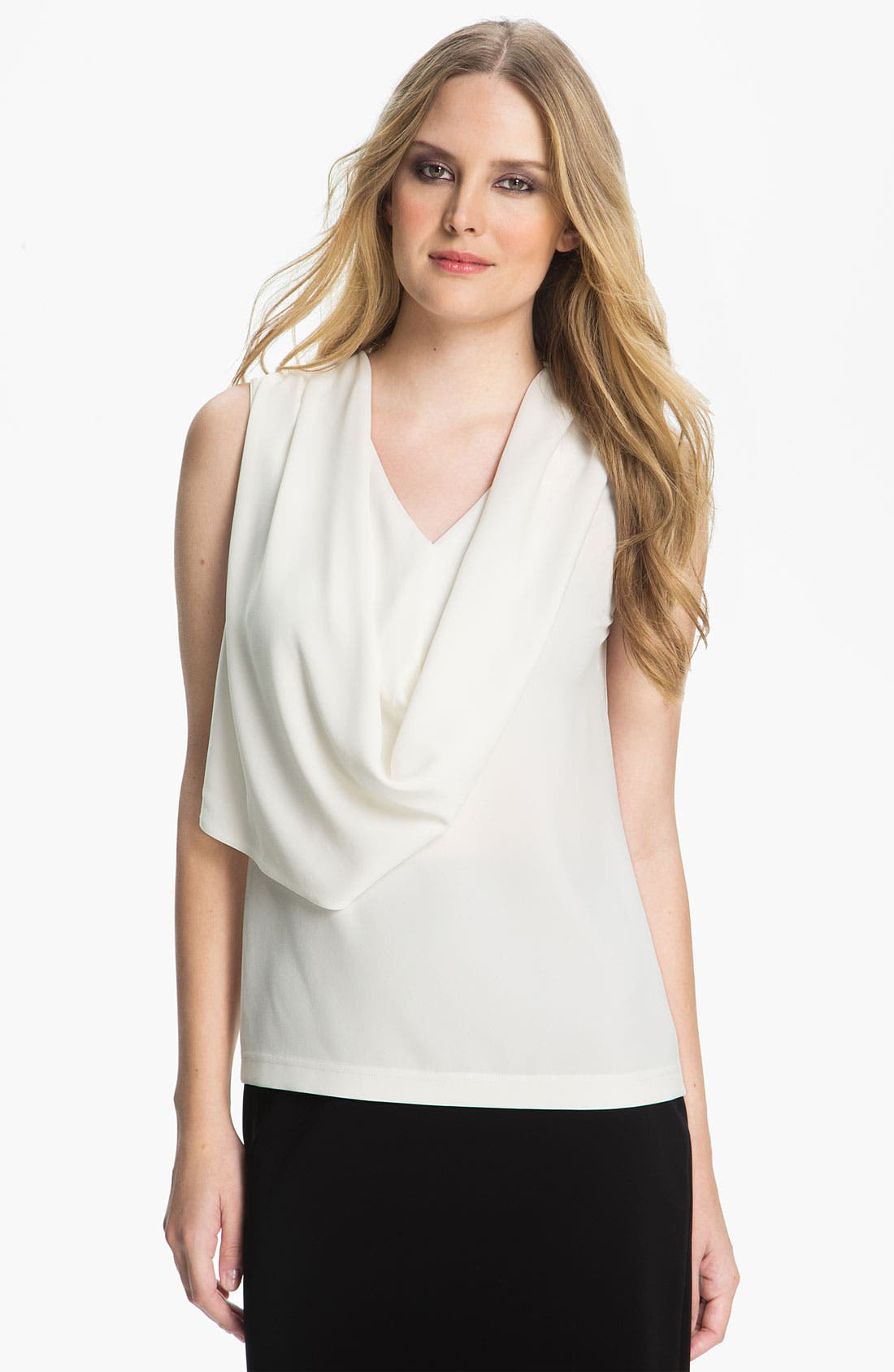 Main Image - St. John Collection Drape Front Sleeveless Top