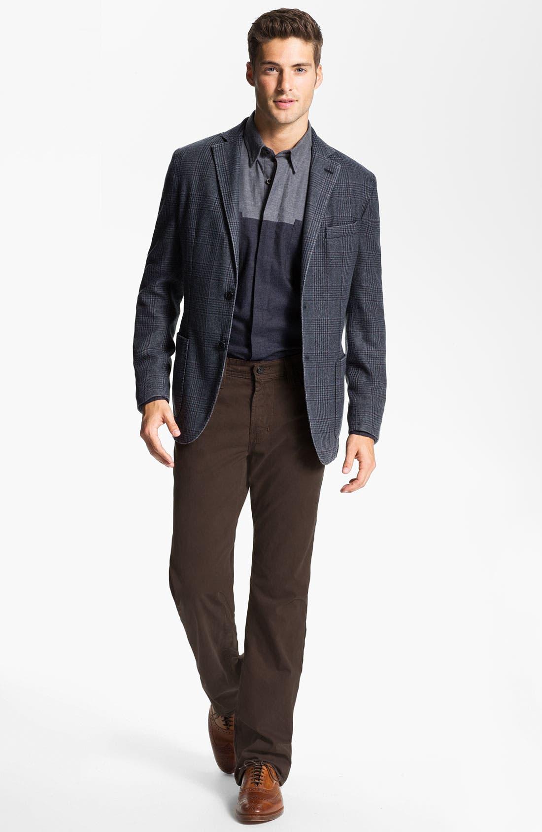 Alternate Image 4  - Lubiam Trim Fit Plaid Wool Blend Sportcoat