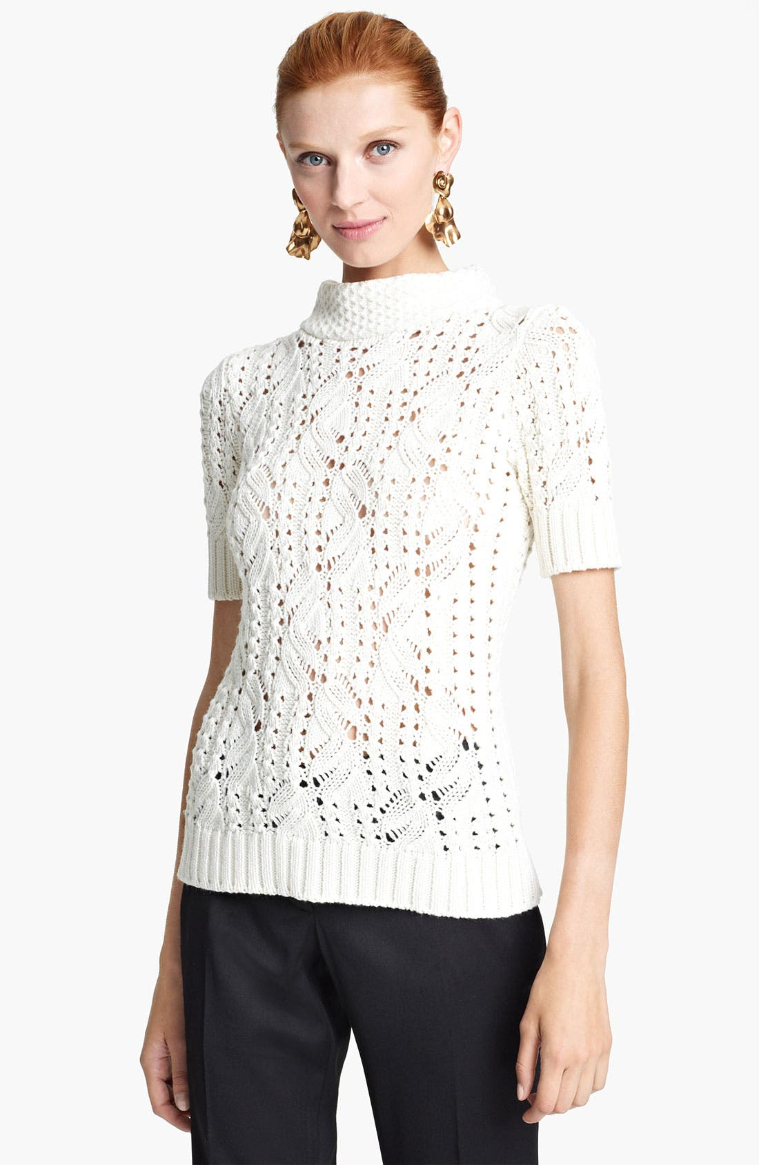 Alternate Image 1 Selected - Oscar de la Renta Mock Neck Pullover