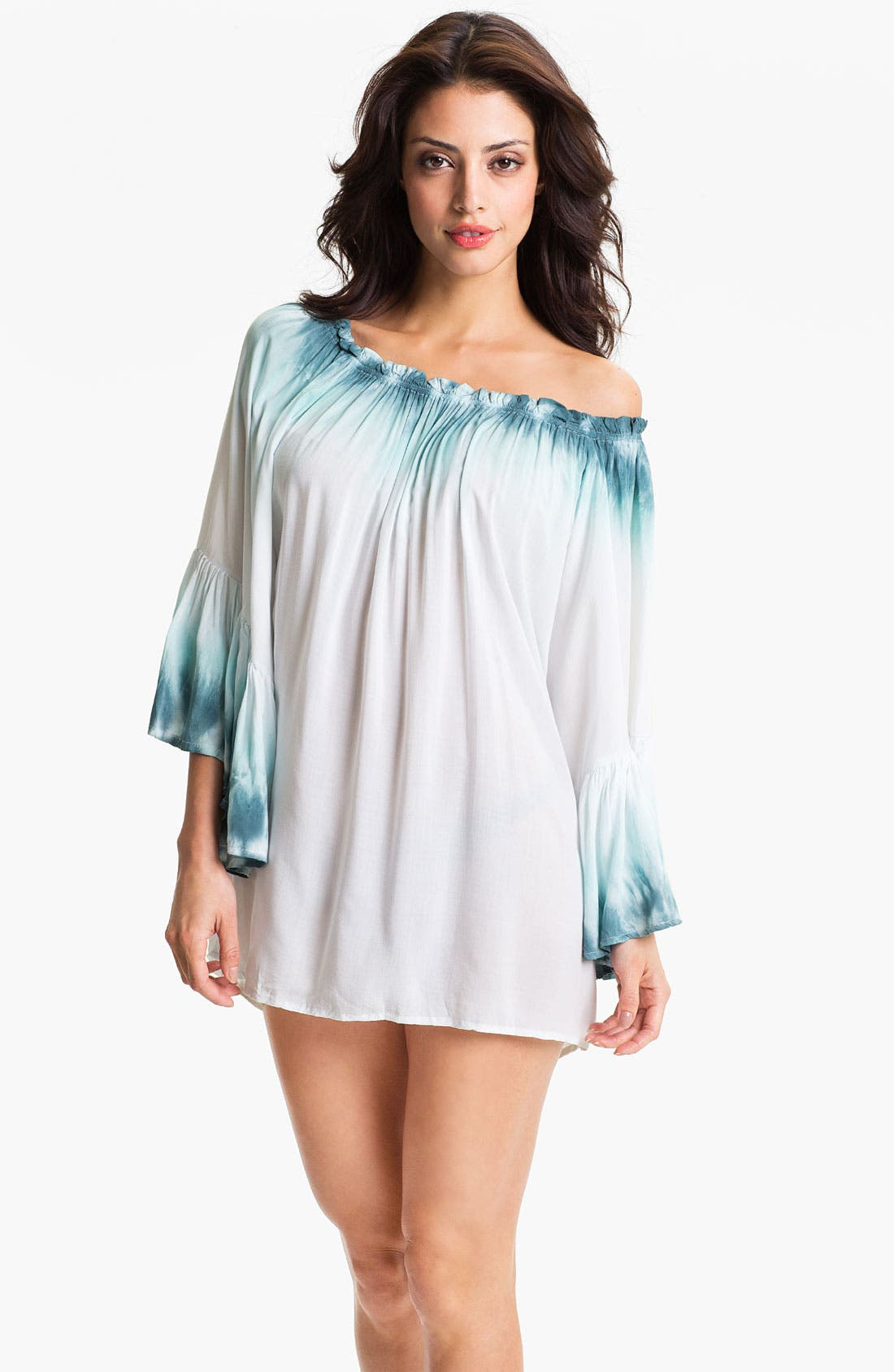 Main Image - Elan Off Shoulder Tunic Cover Up