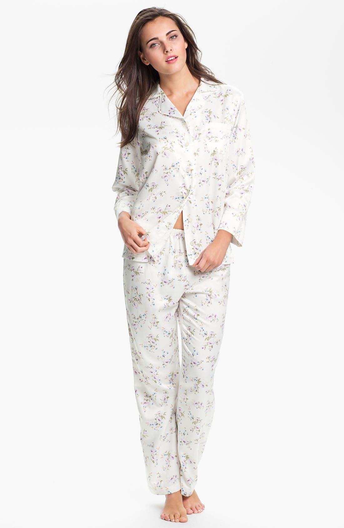 Main Image - Carole Hochman 'Cozy Back Satin' Pajamas