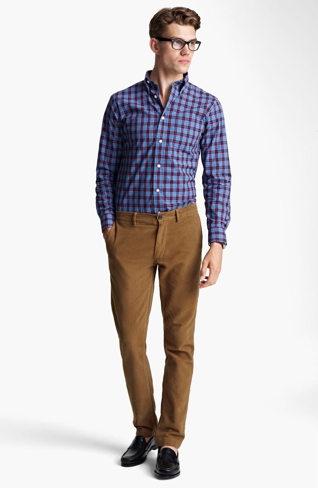 Alternate Image 4  - Jack Spade 'Arnet' Check Woven Shirt