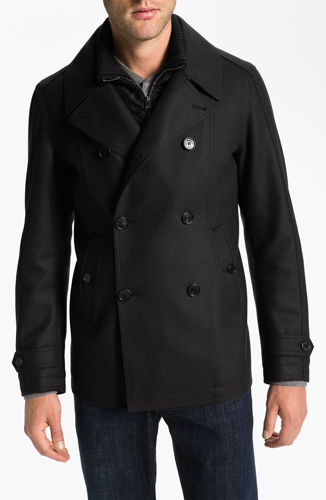 Main Image - Allegri Wool & Cashmere Blend Caban Coat